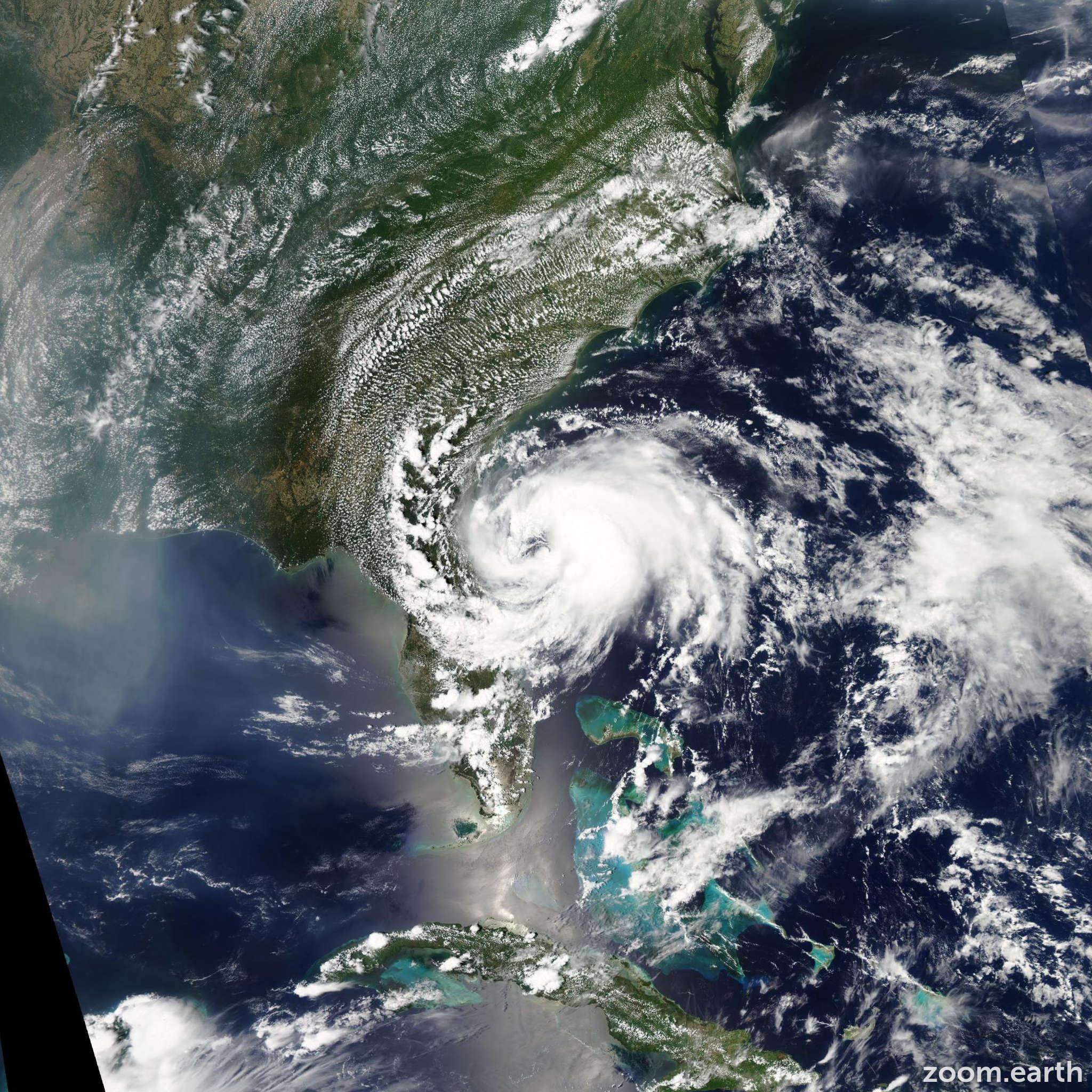 Satellite image of Storm Beryl 2012