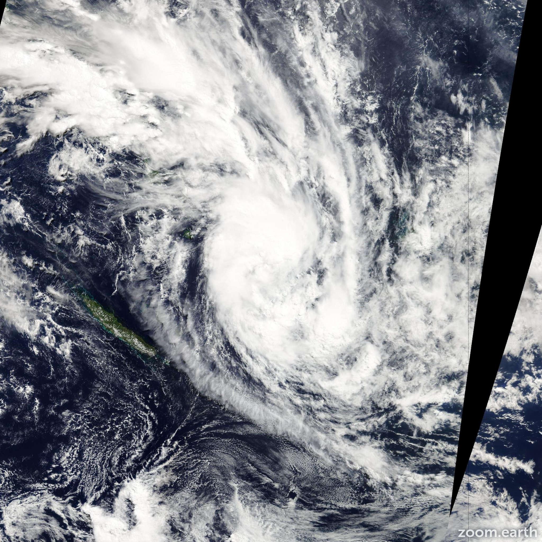 Satellite image of Cyclone Daphne 2012