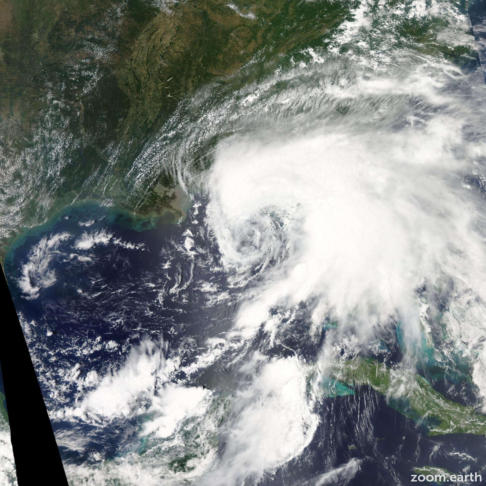 Satellite image of Storm Debby 2012