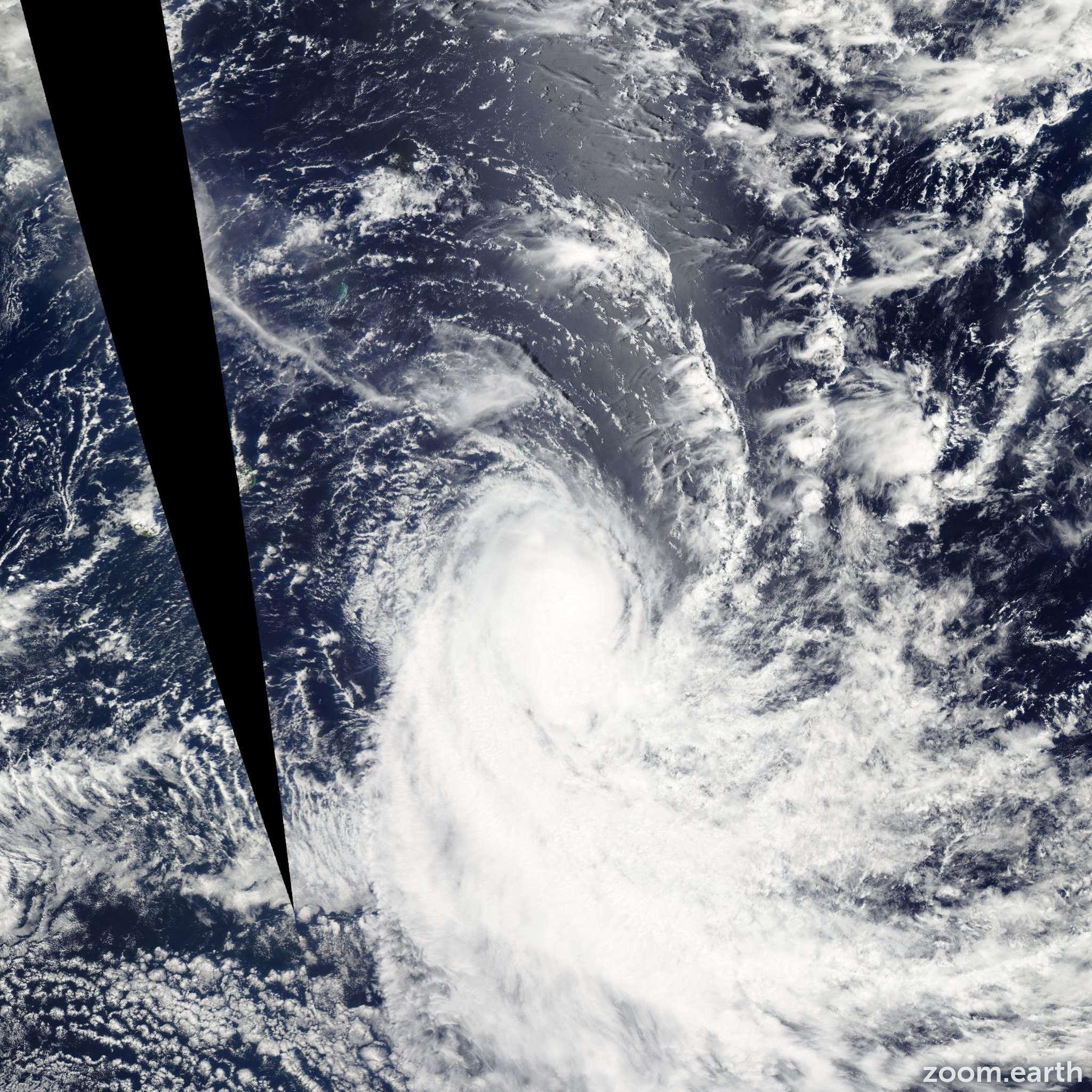 Satellite image of Storm Ethel 2012