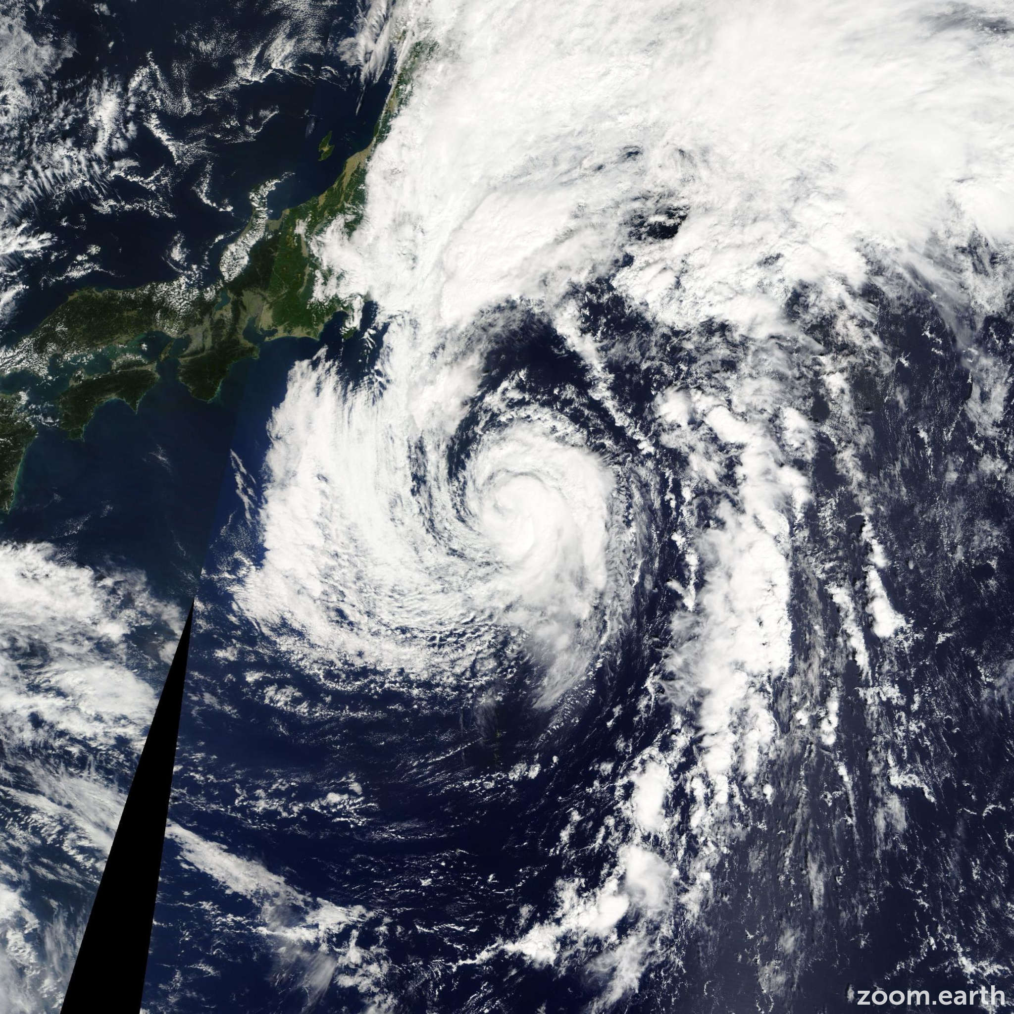 Satellite image of Storm Ewiniar 2012