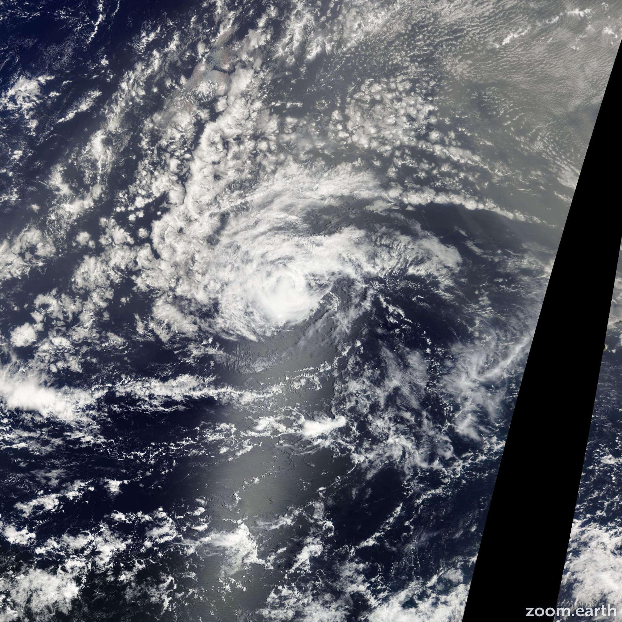 Satellite image of Storm Florence 2012