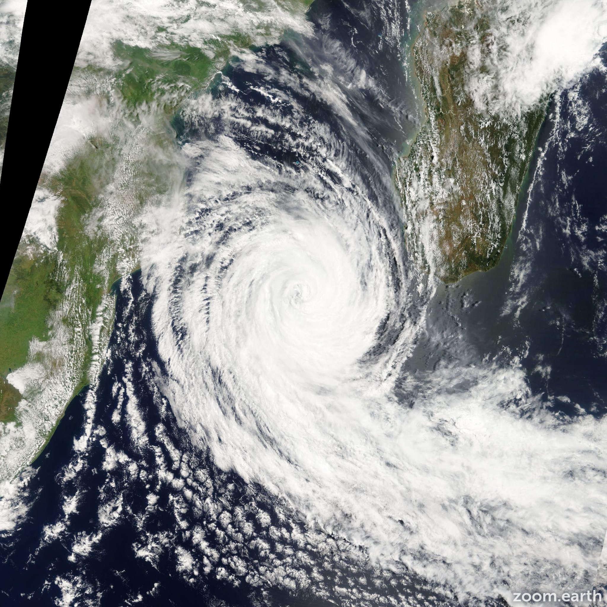Satellite image of Cyclone Funso 2012