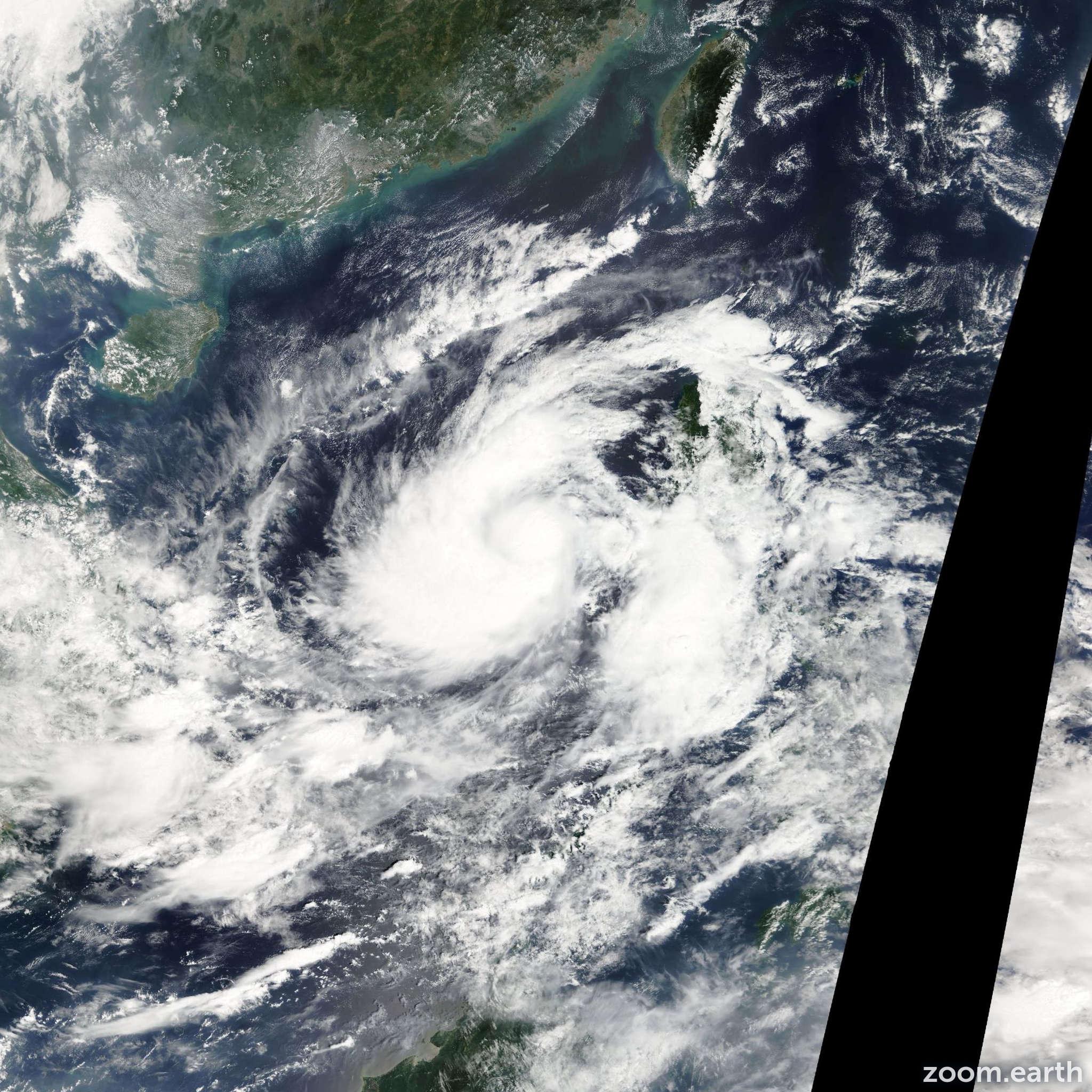 Satellite image of Storm Gaemi 2012