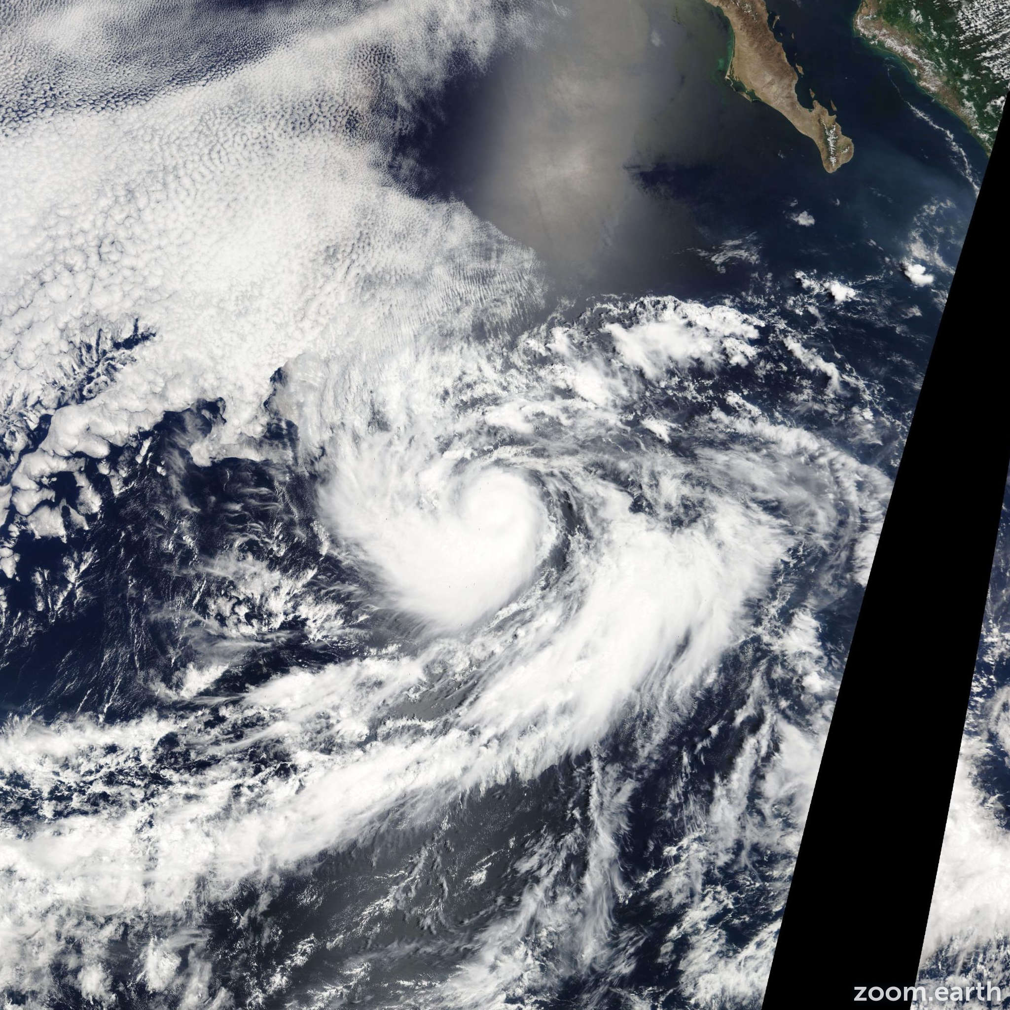 Satellite image of Hurricane Gilma 2012