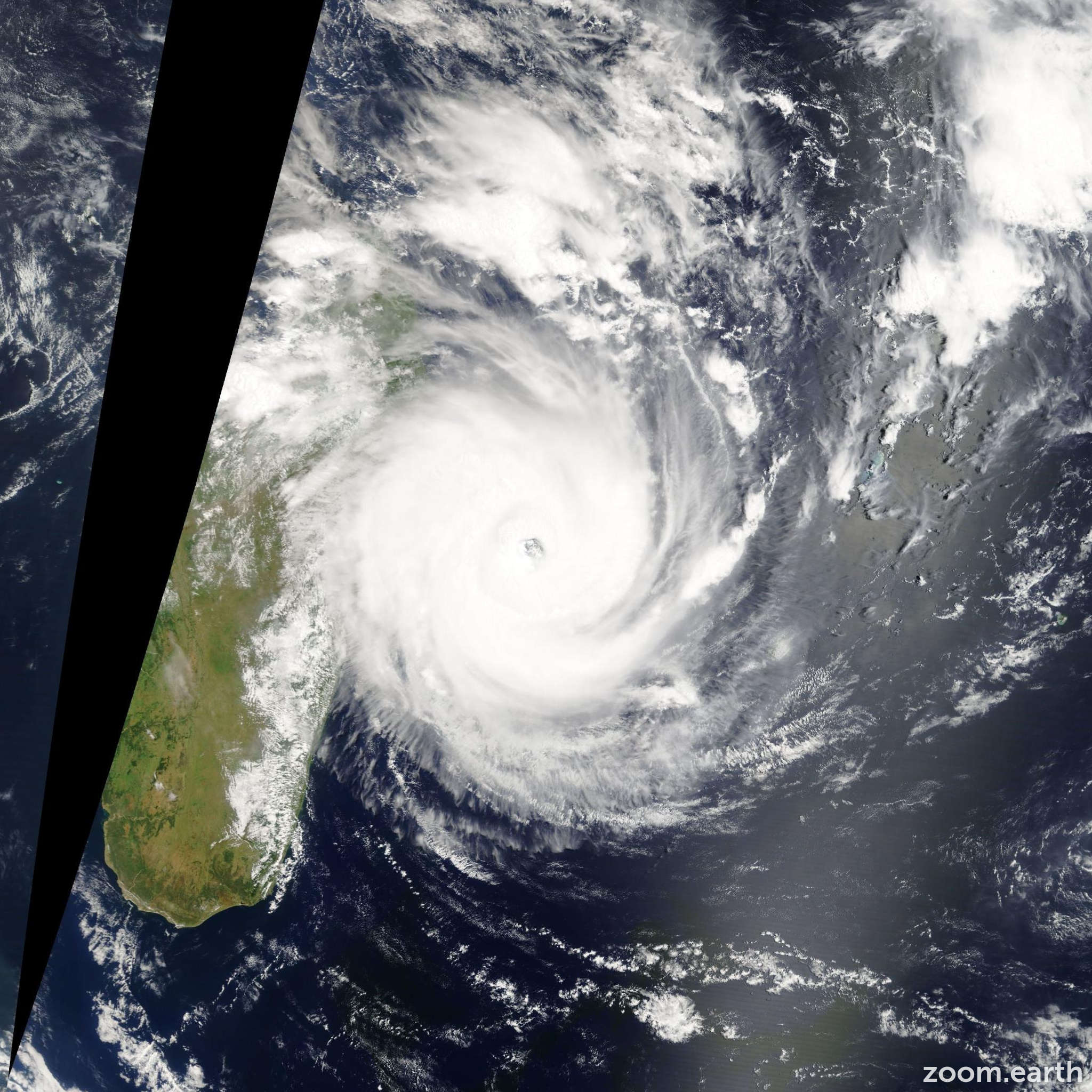 Satellite image of Cyclone Giovanna 2012