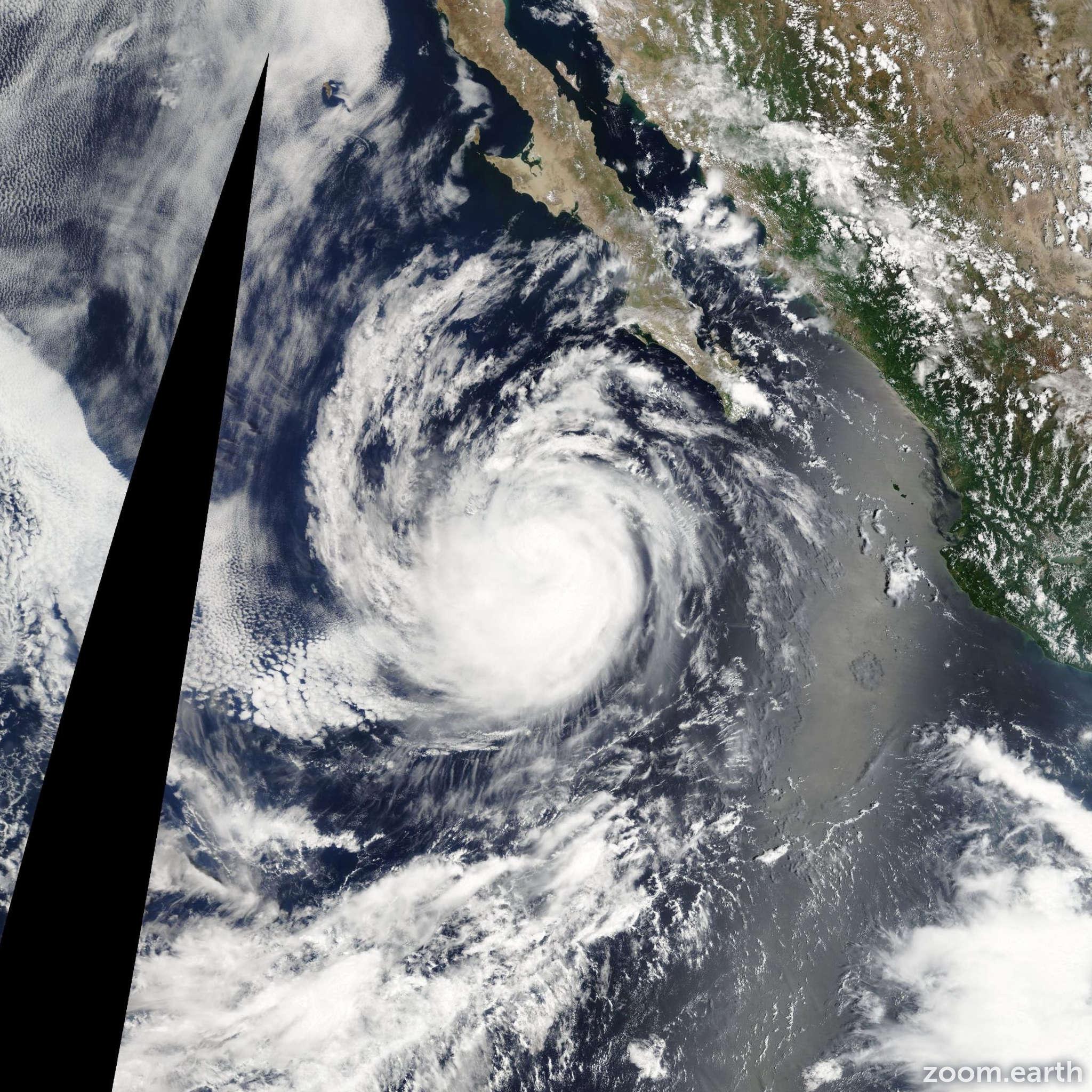 Satellite image of Hurricane Ileana 2012