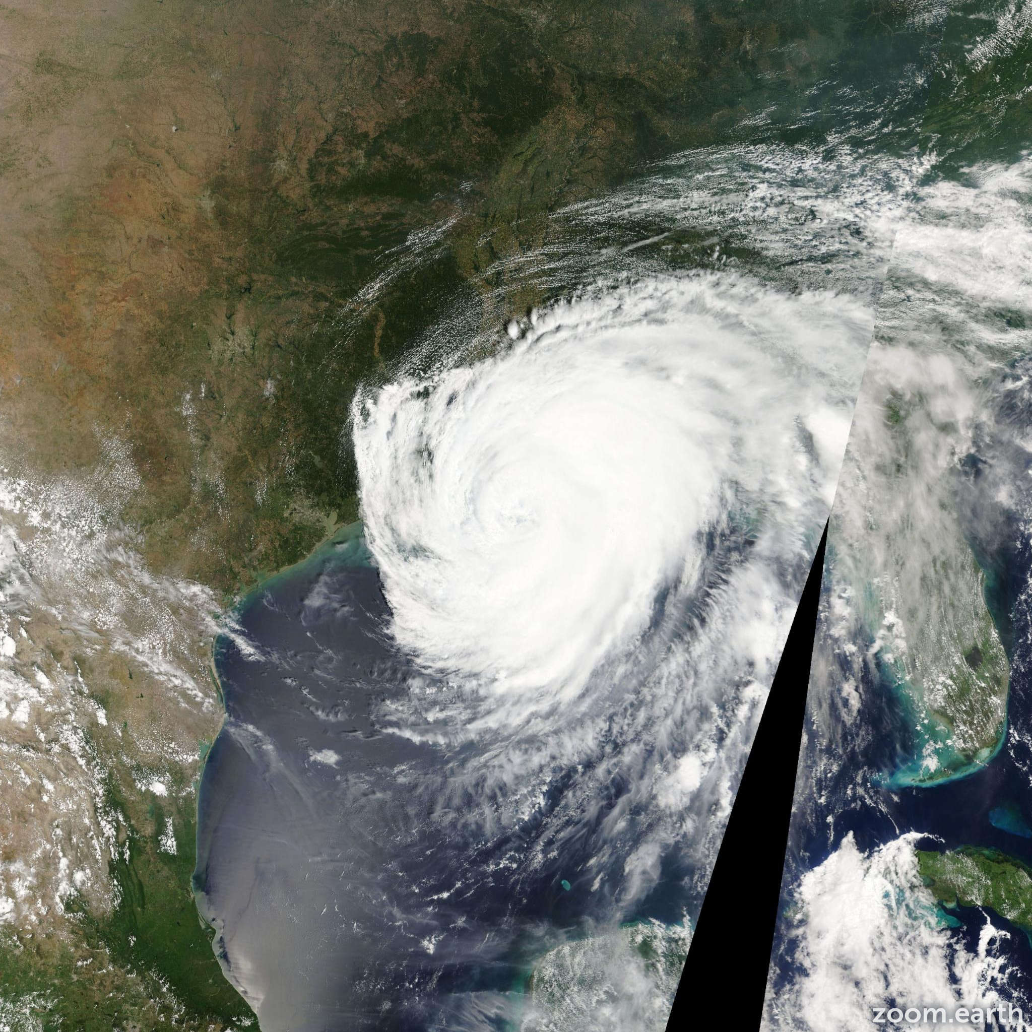Satellite image of Hurricane Isaac 2012