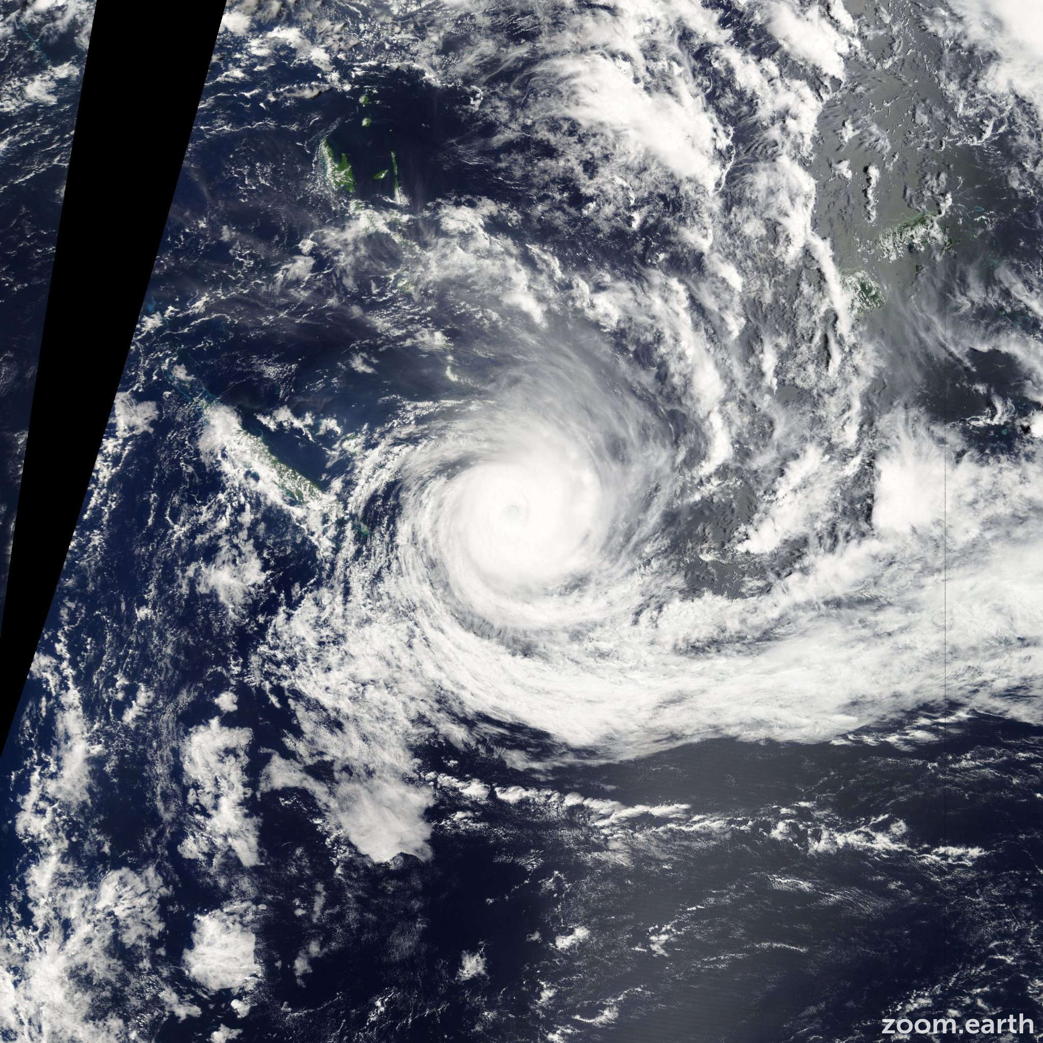 Satellite image of Cyclone Jasmine 2012