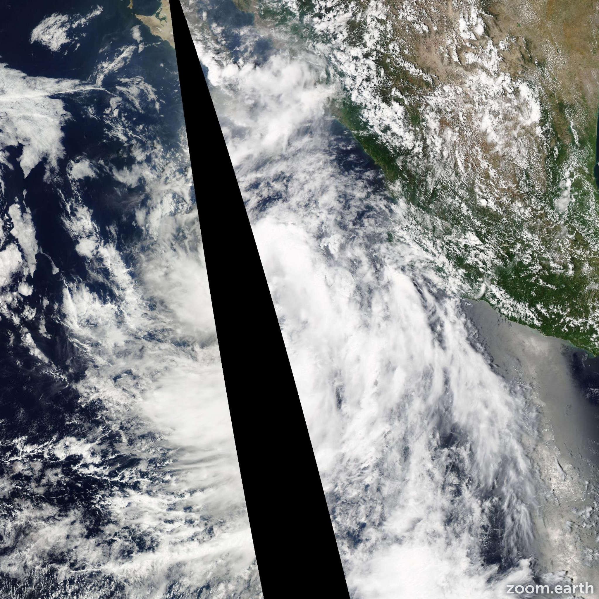 Satellite image of Storm John 2012