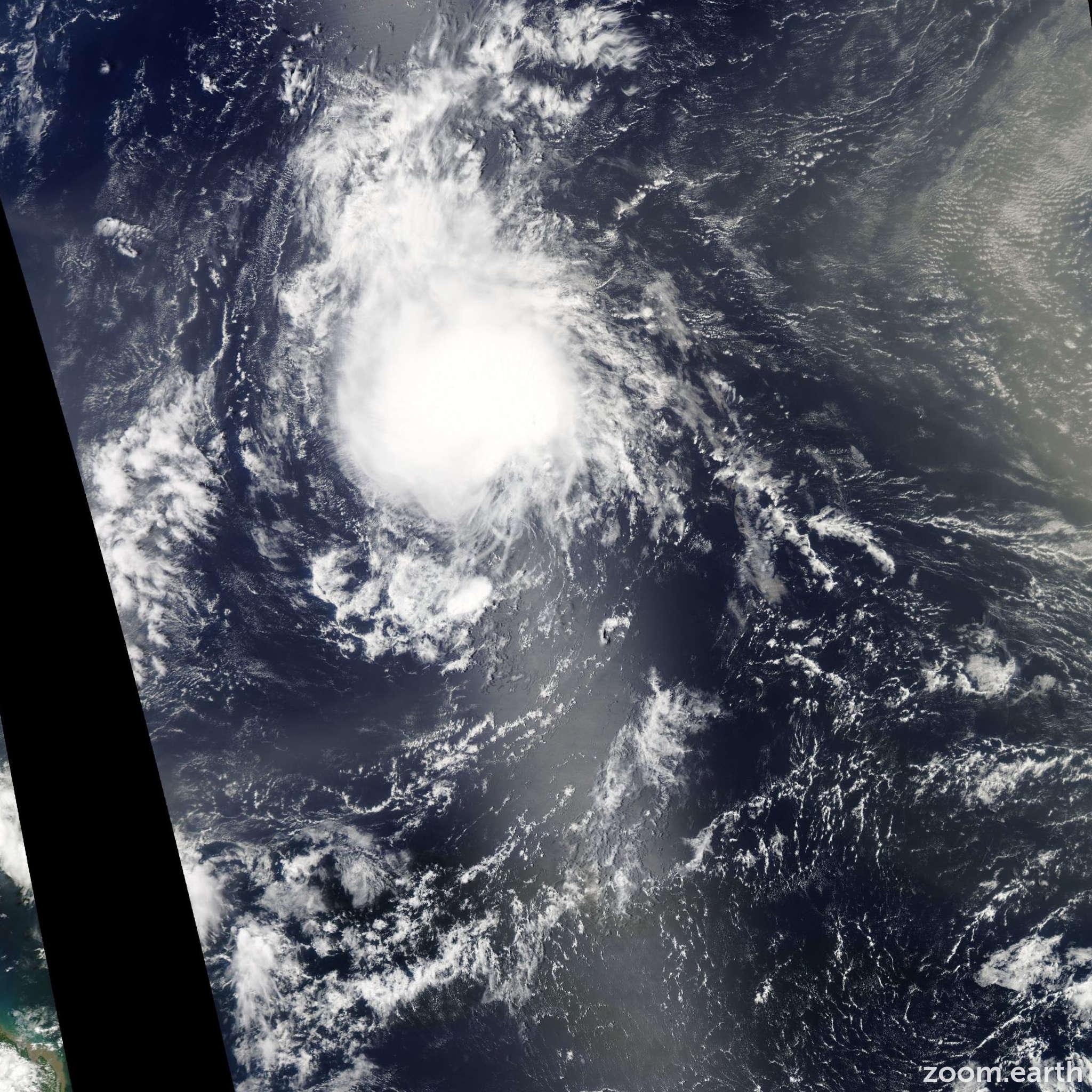 Satellite image of Storm Joyce 2012