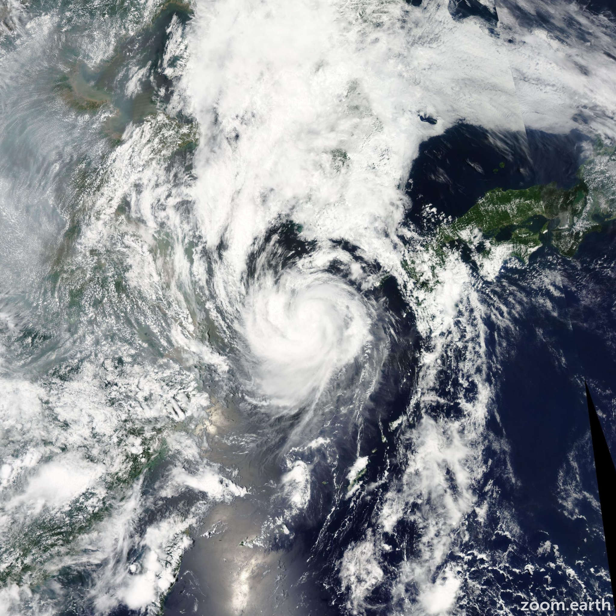 Satellite image of Storm Khanun 2012