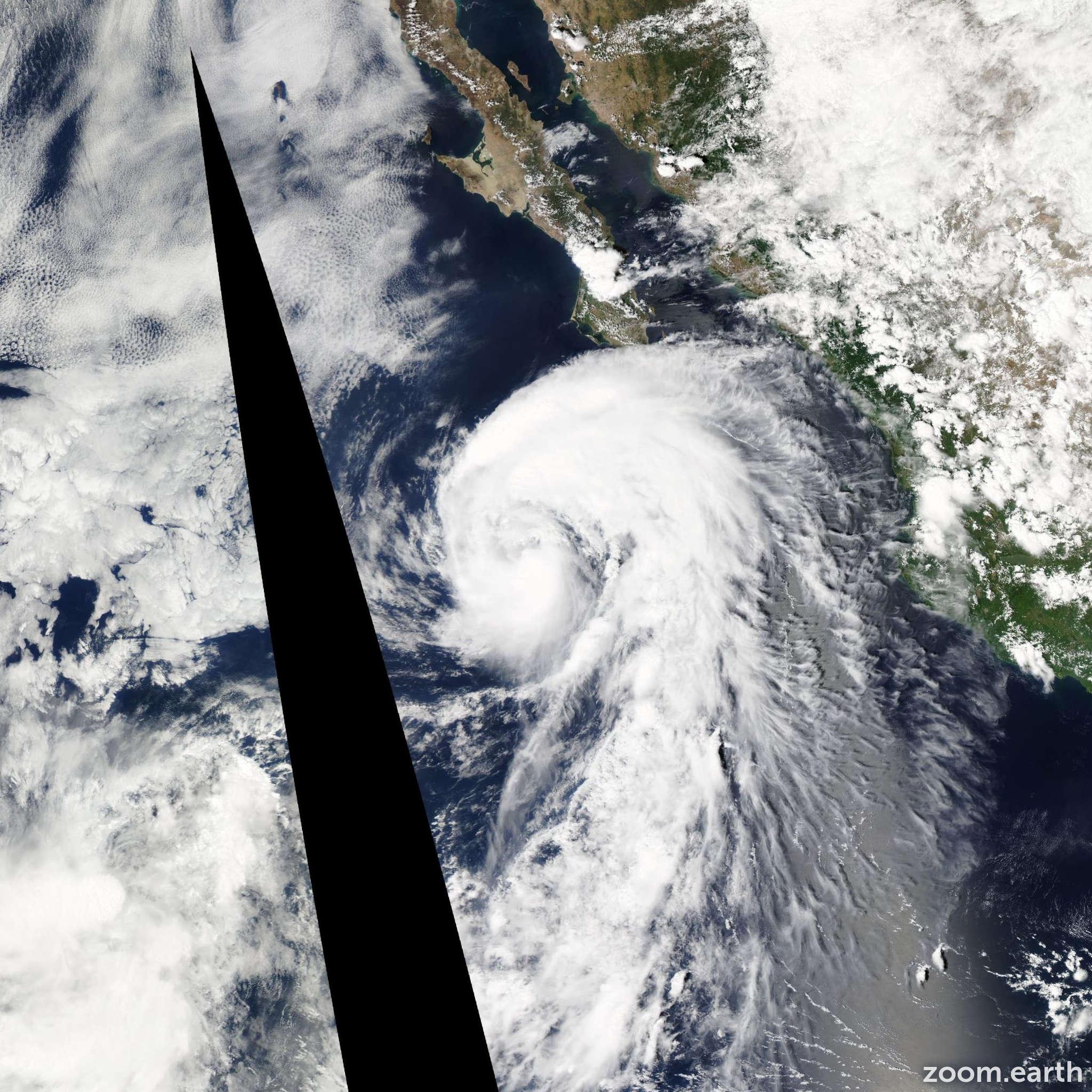 Satellite image of Storm Kristy 2012
