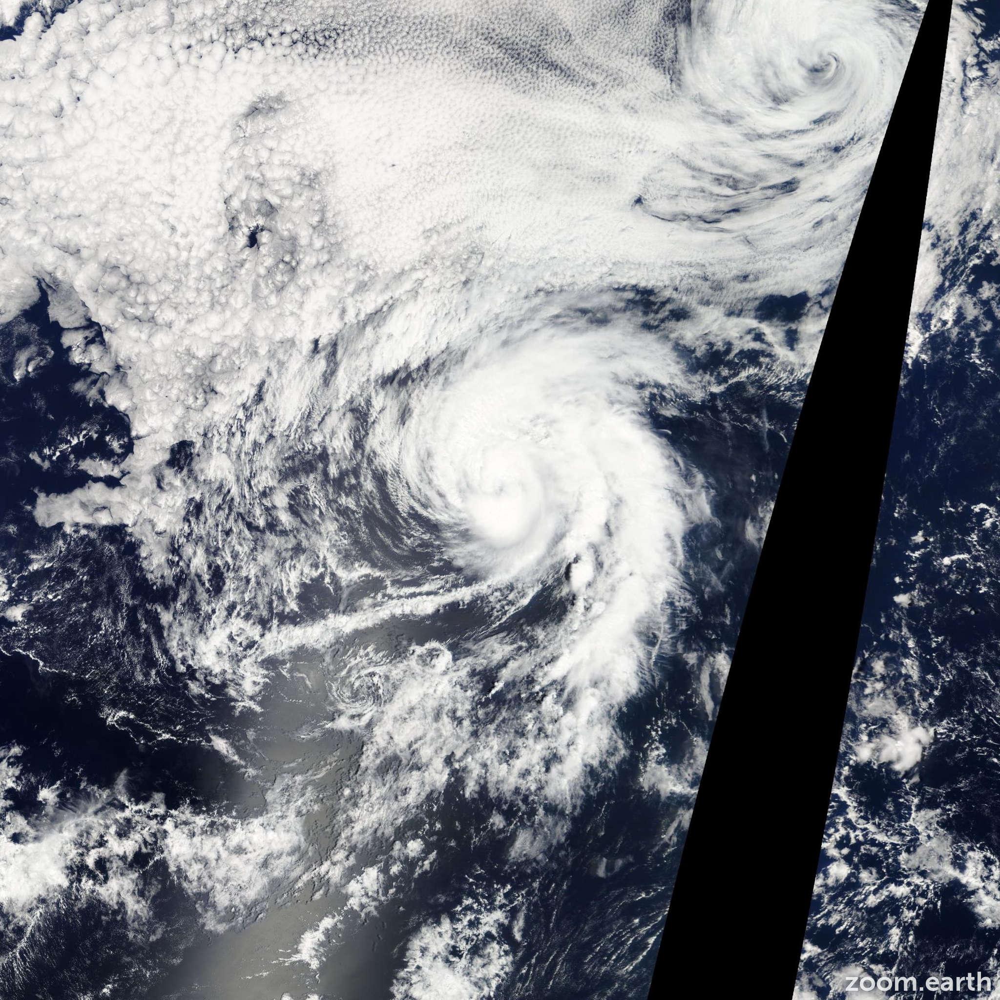 Satellite image of Hurricane Lane 2012