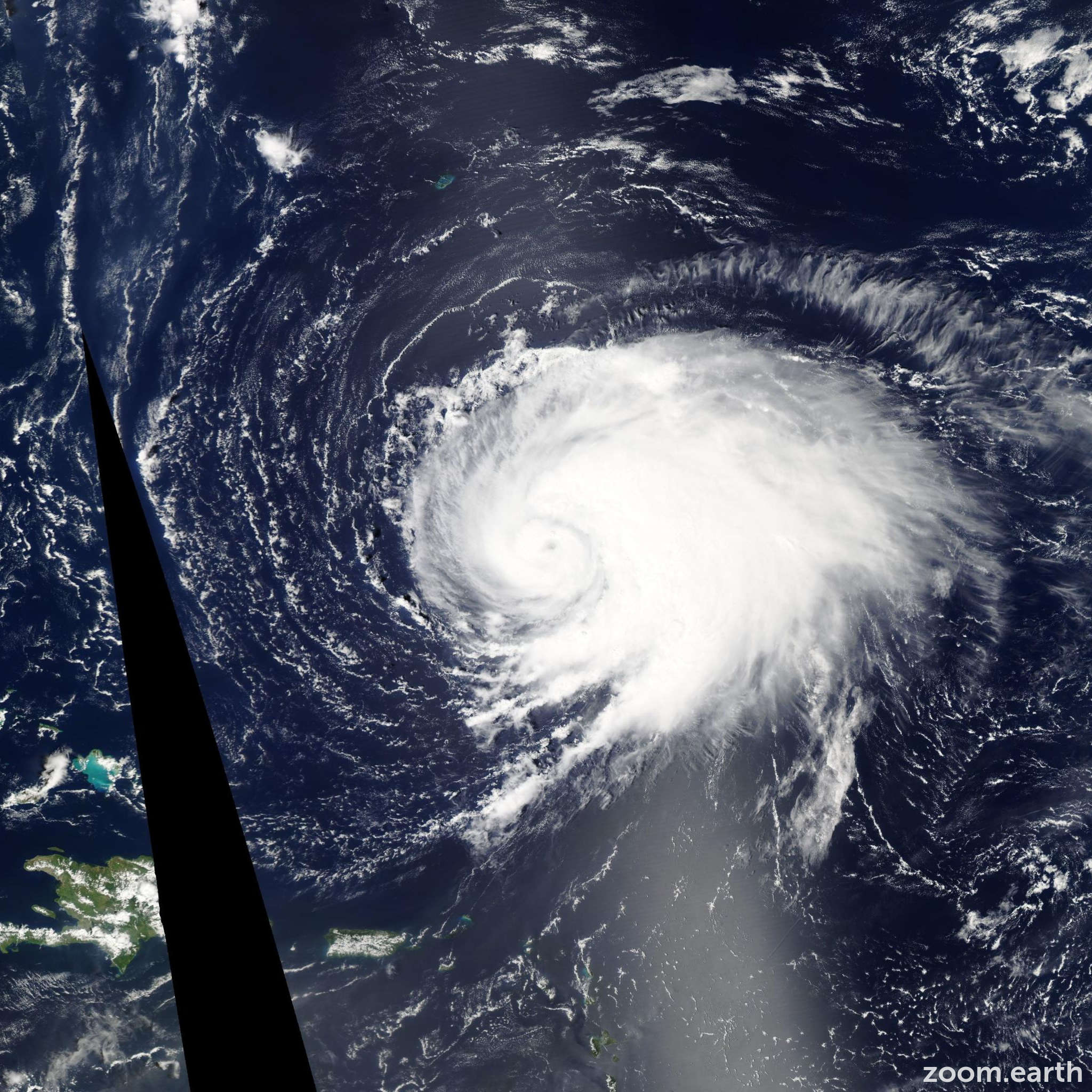 Satellite image of Hurricane Leslie 2012