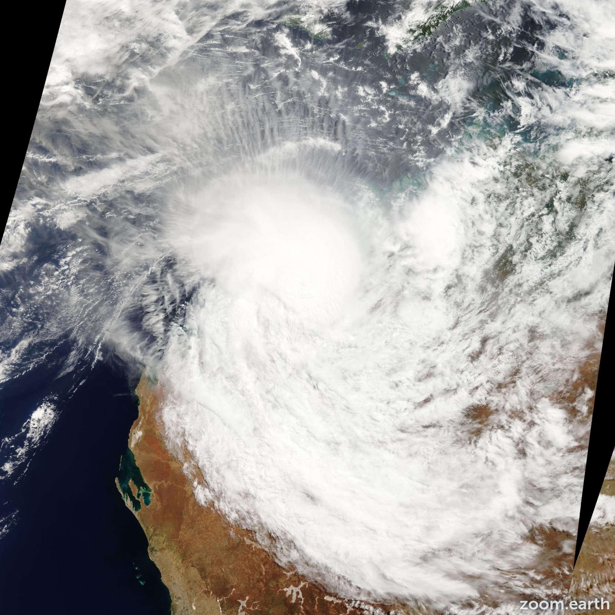 Satellite image of Cyclone Lua 2012