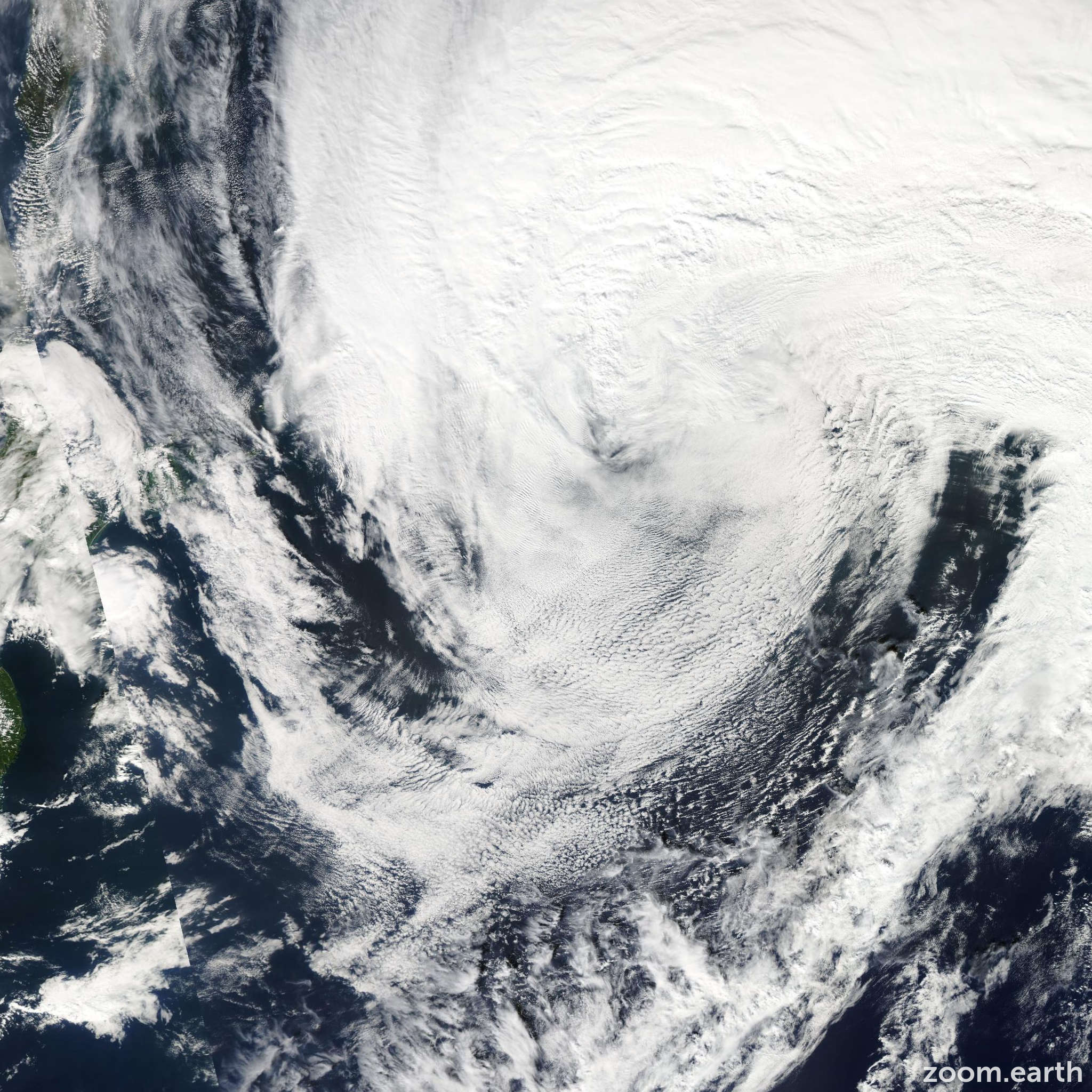 Satellite image of Storm Maliksi 2012