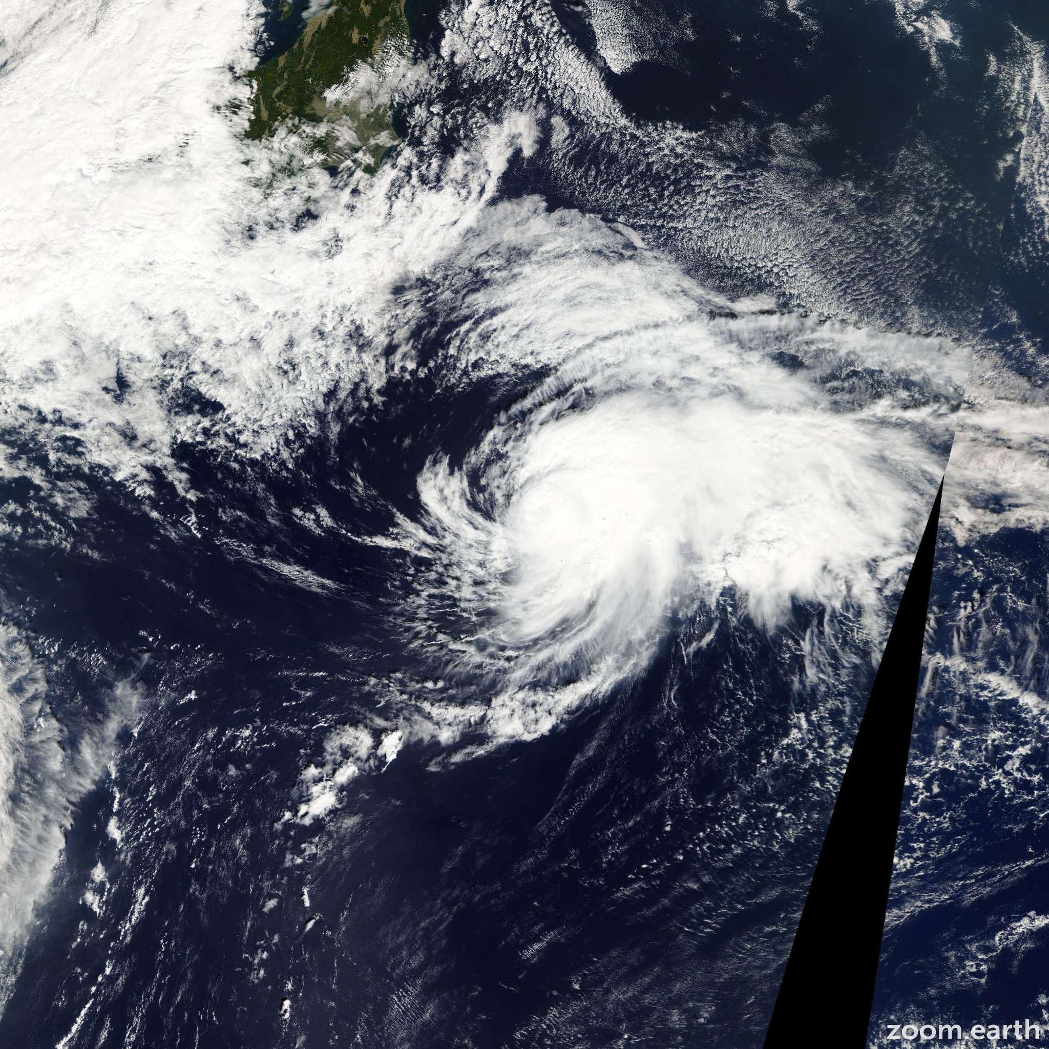 Satellite image of Storm Maria 2012