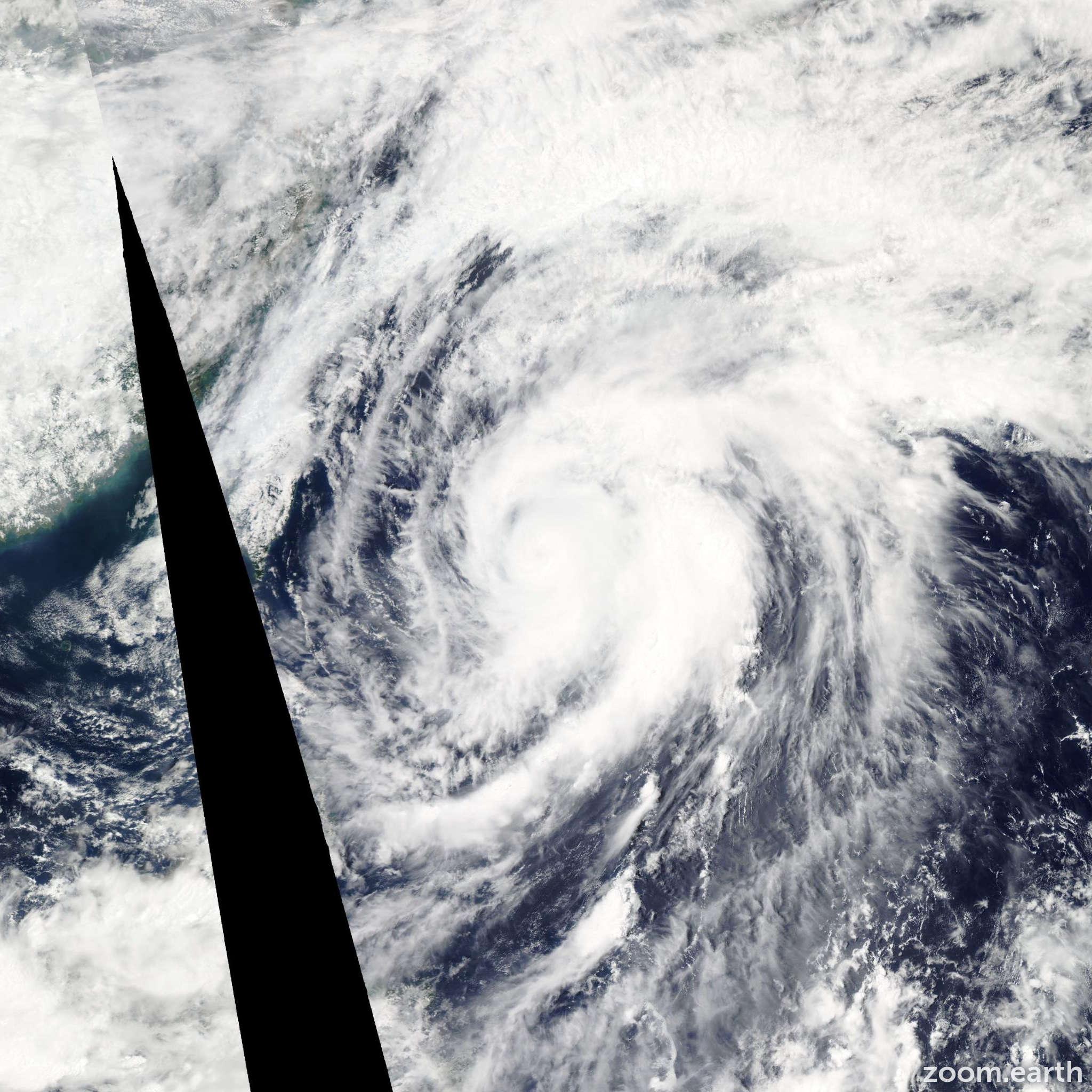 Satellite image of Typhoon Mawar 2012