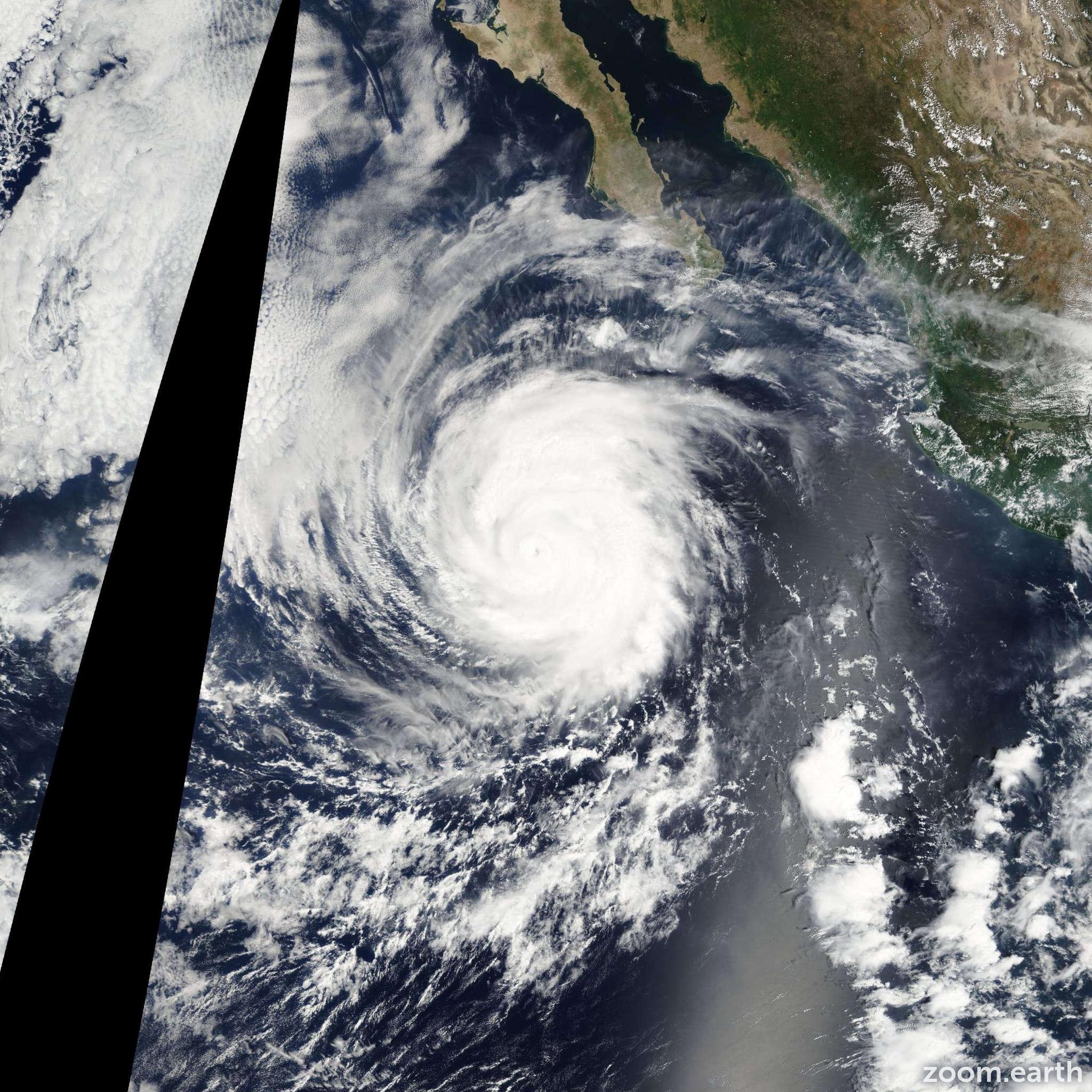 Satellite image of Hurricane Miriam 2012