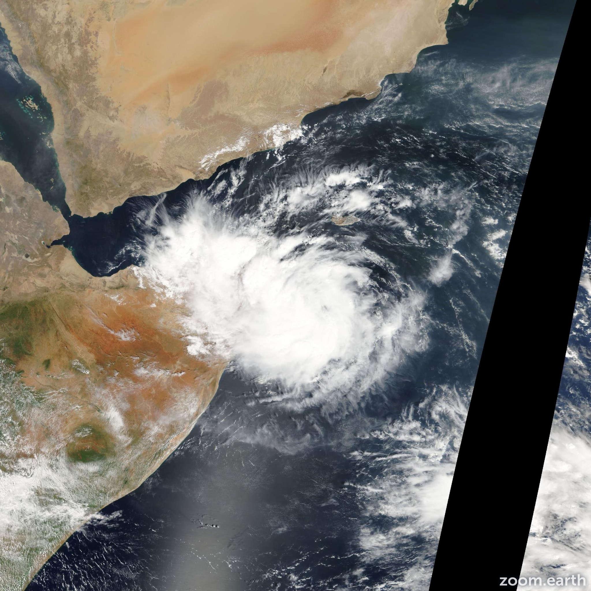 Satellite image of Depression Murjan 2012