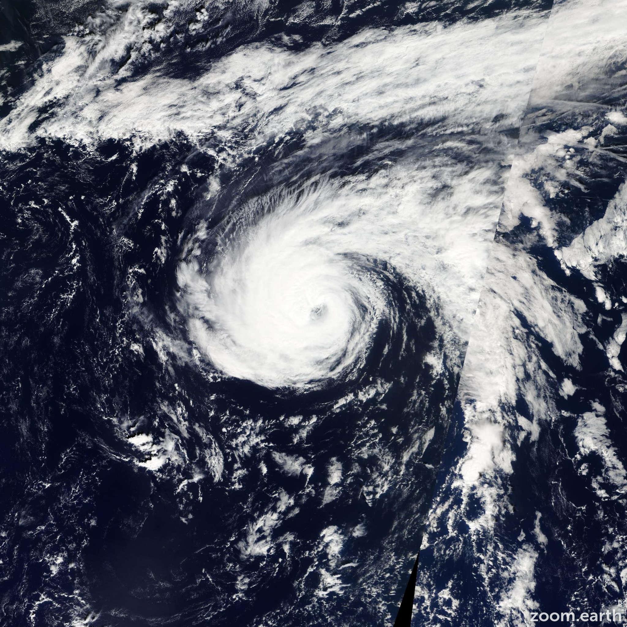 Satellite image of Hurricane Nadine 2012