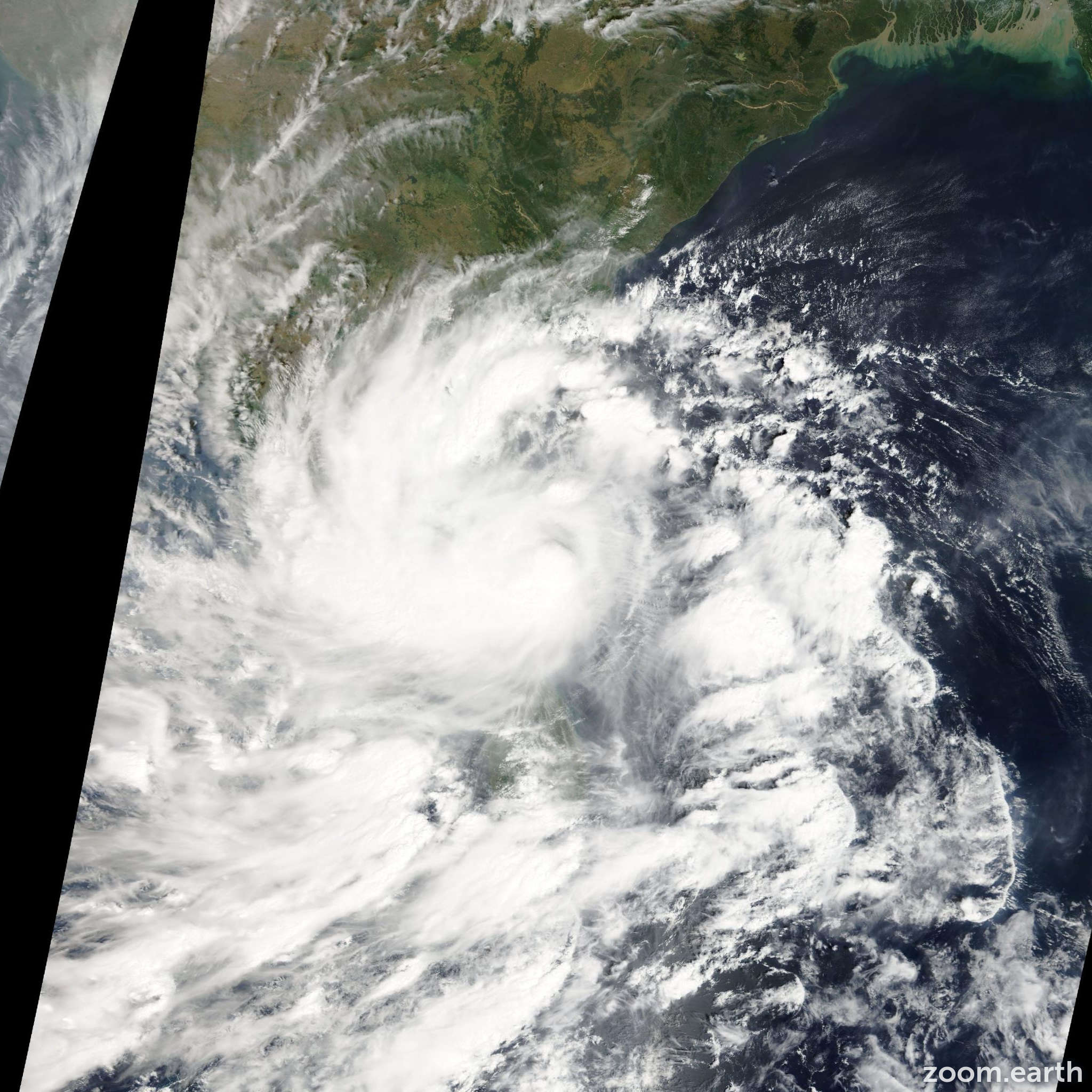 Satellite image of Cyclone Nilam 2012