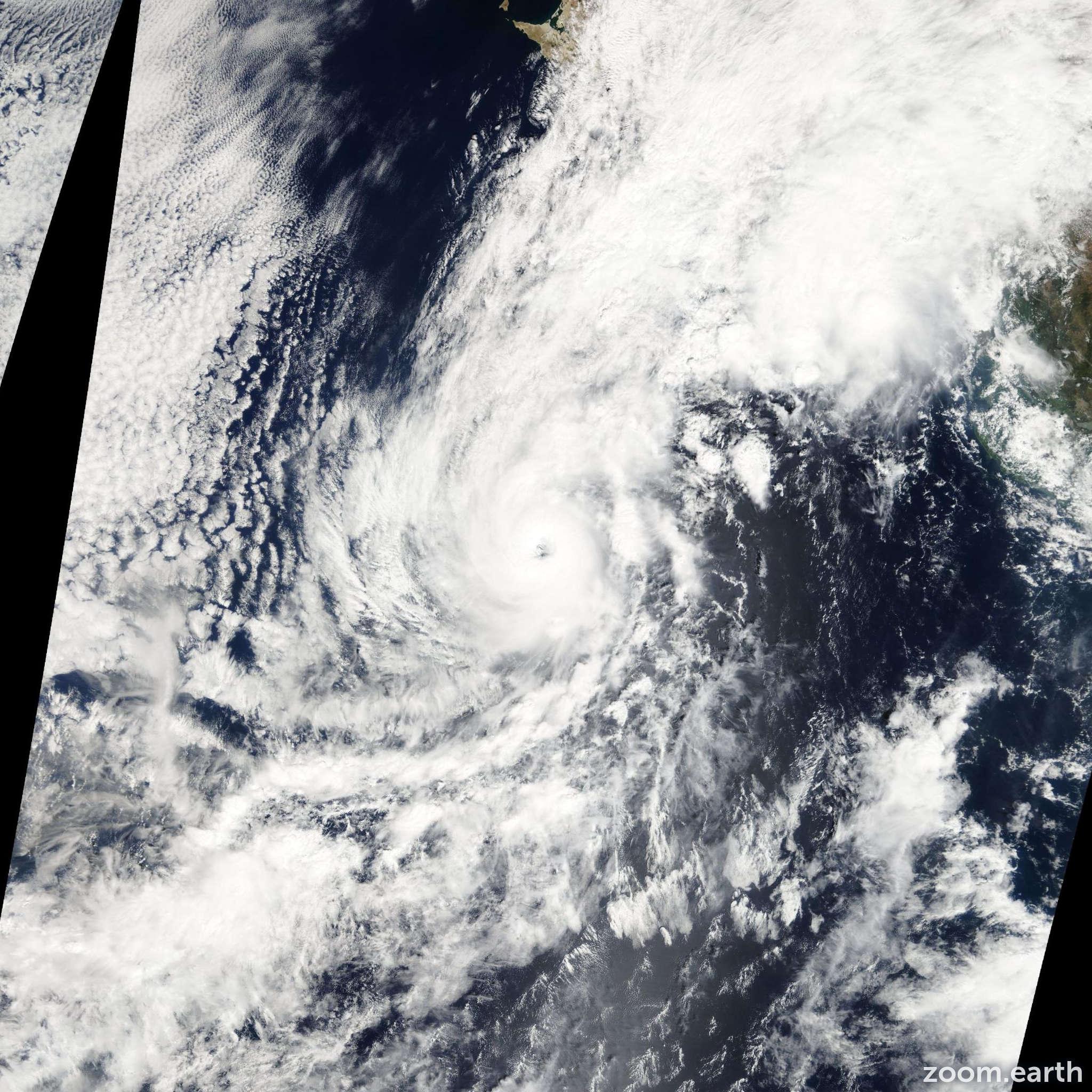 Satellite image of Hurricane Paul 2012