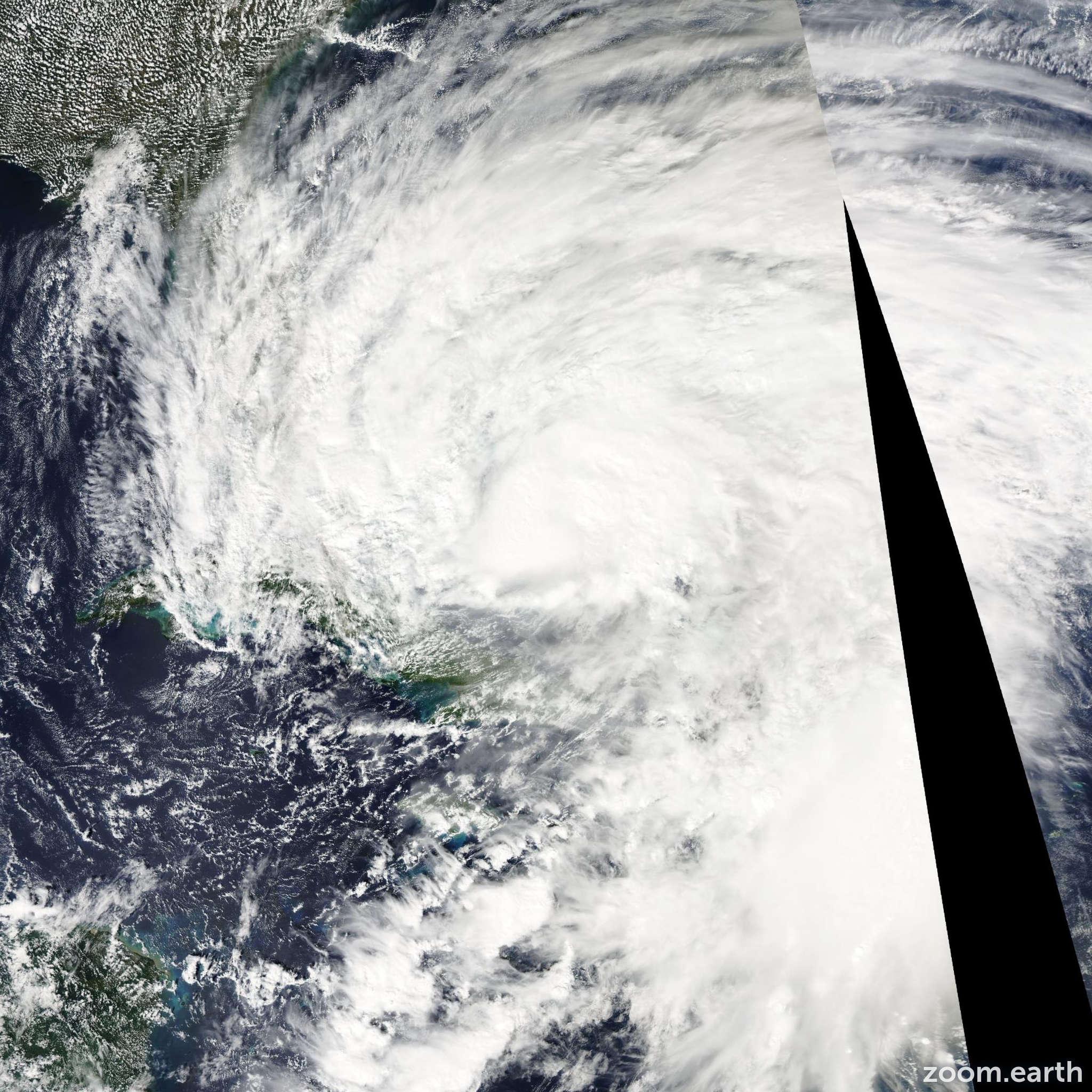 Satellite image of Hurricane Sandy 2012