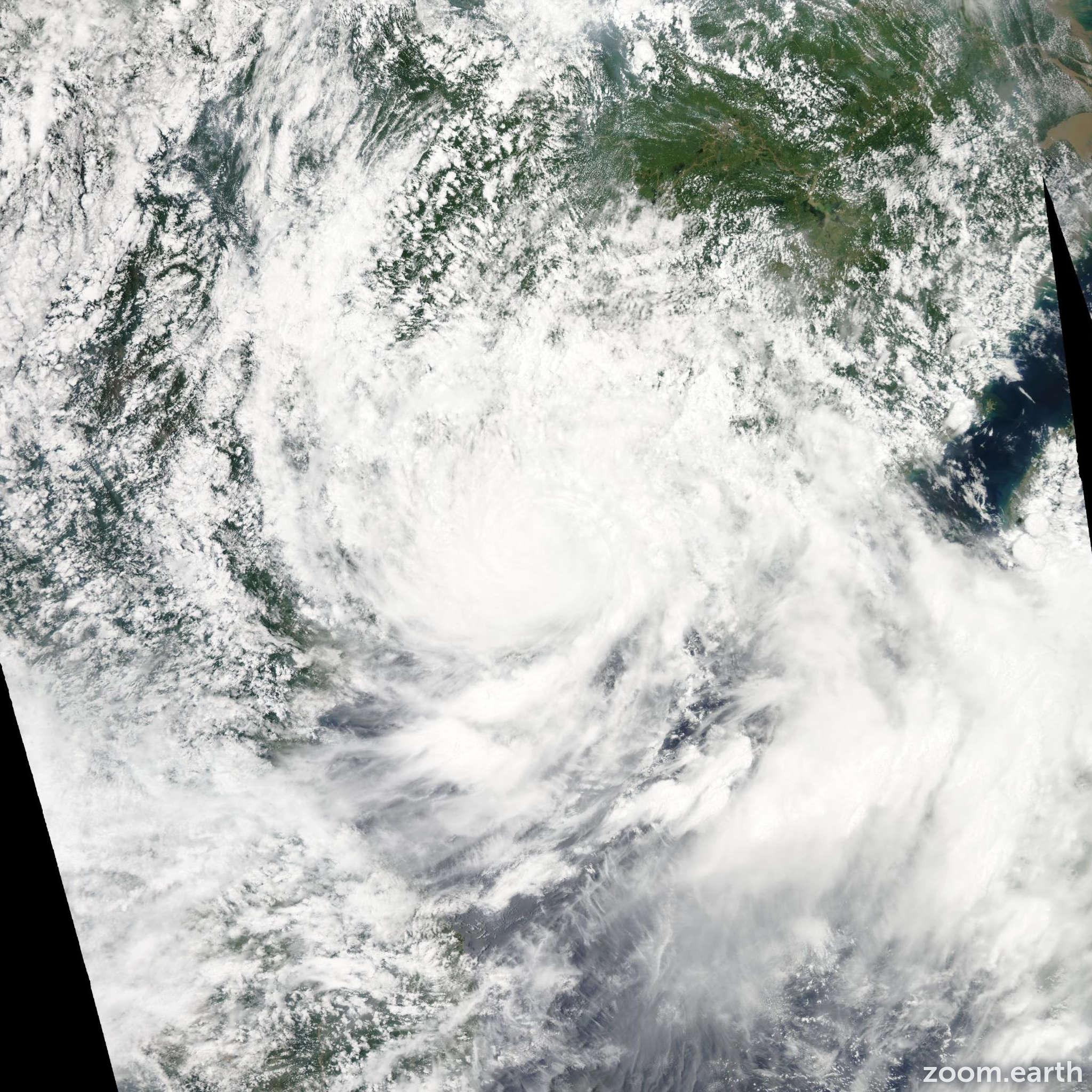 Satellite image of Typhoon Vicente 2012