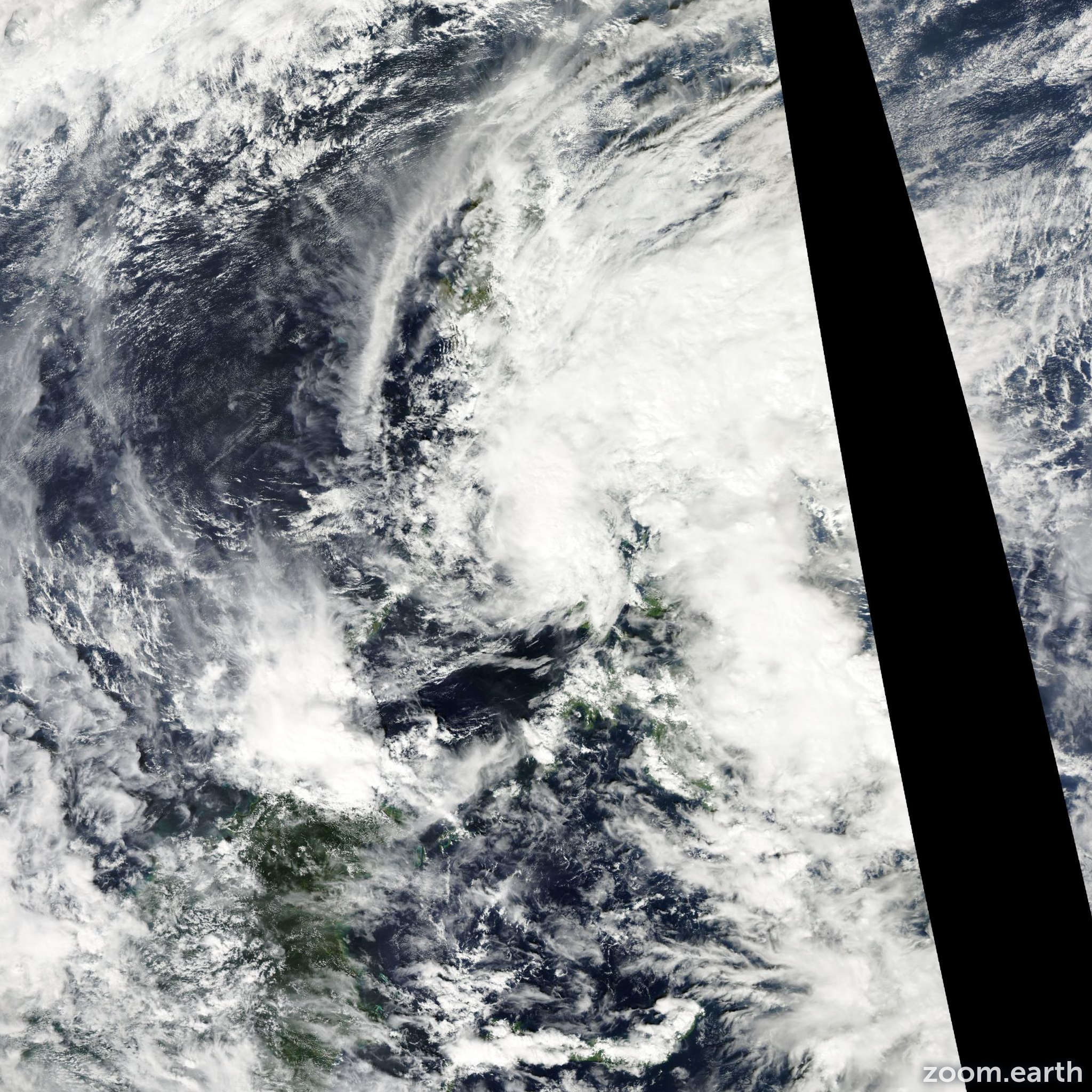 Satellite image of Storm Wukong 2012