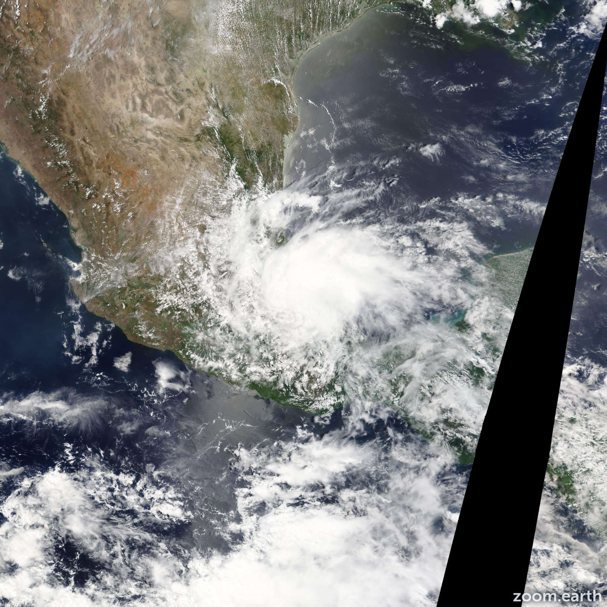 Satellite image of Storm Barry 2013