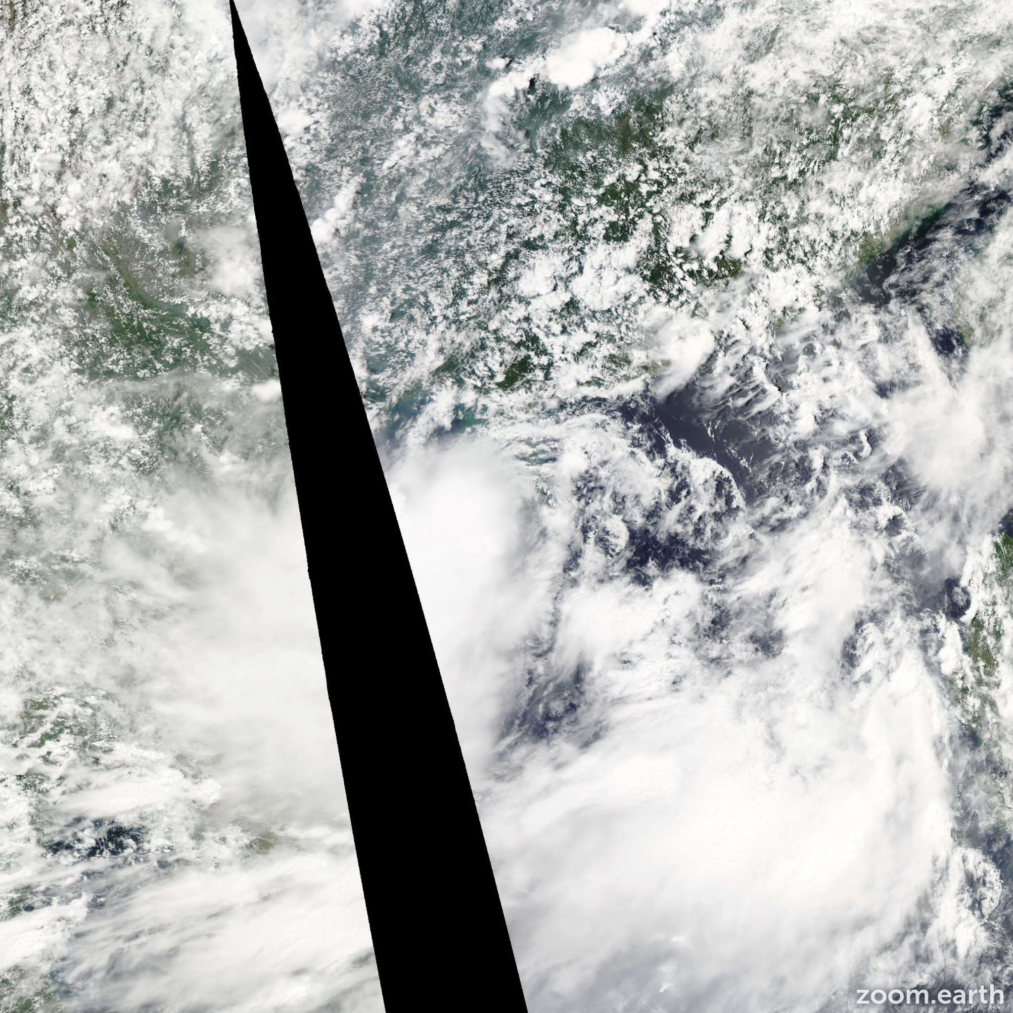 Satellite image of Storm Bebinca 2013