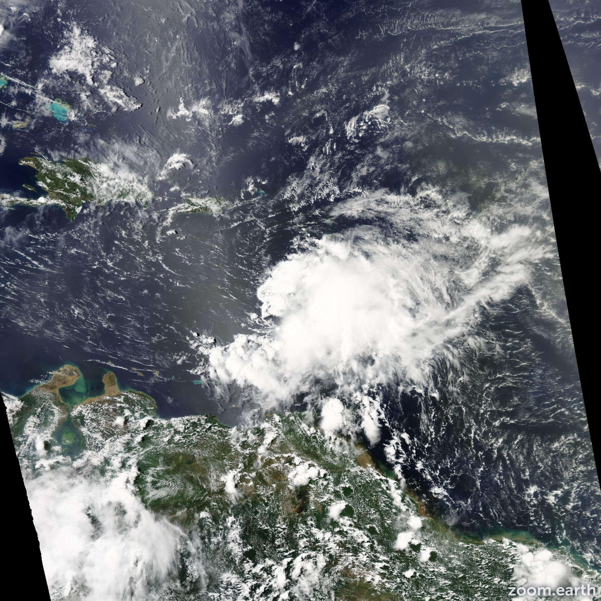Satellite image of Storm Chantal 2013