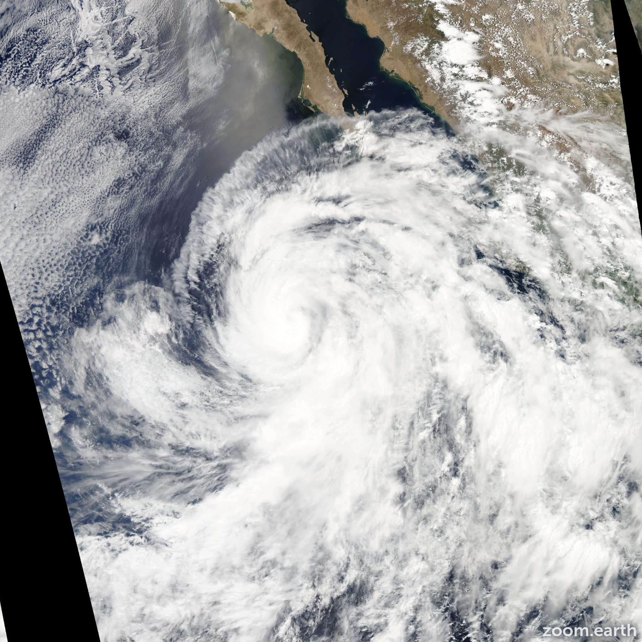 Satellite image of Hurricane Cosme 2013
