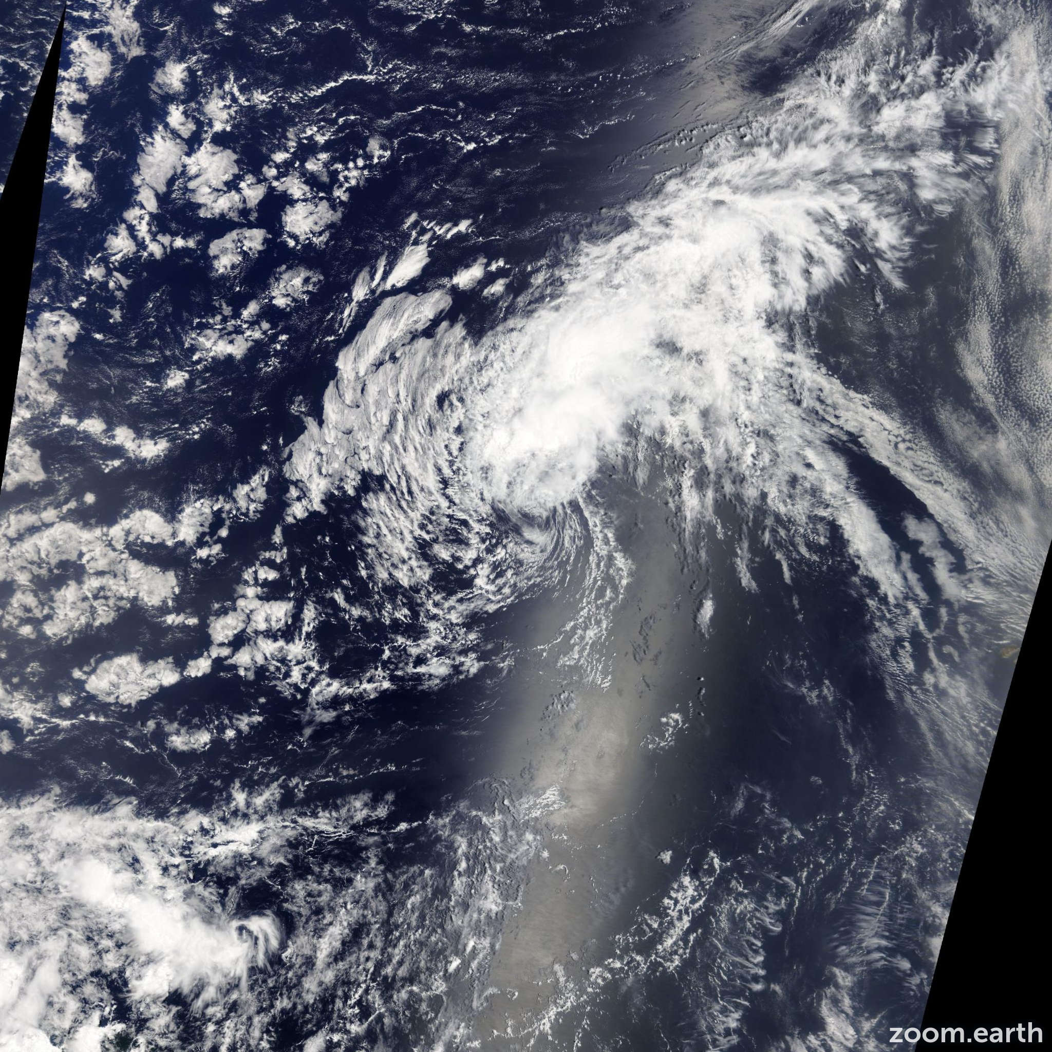 Satellite image of Storm Erin 2013