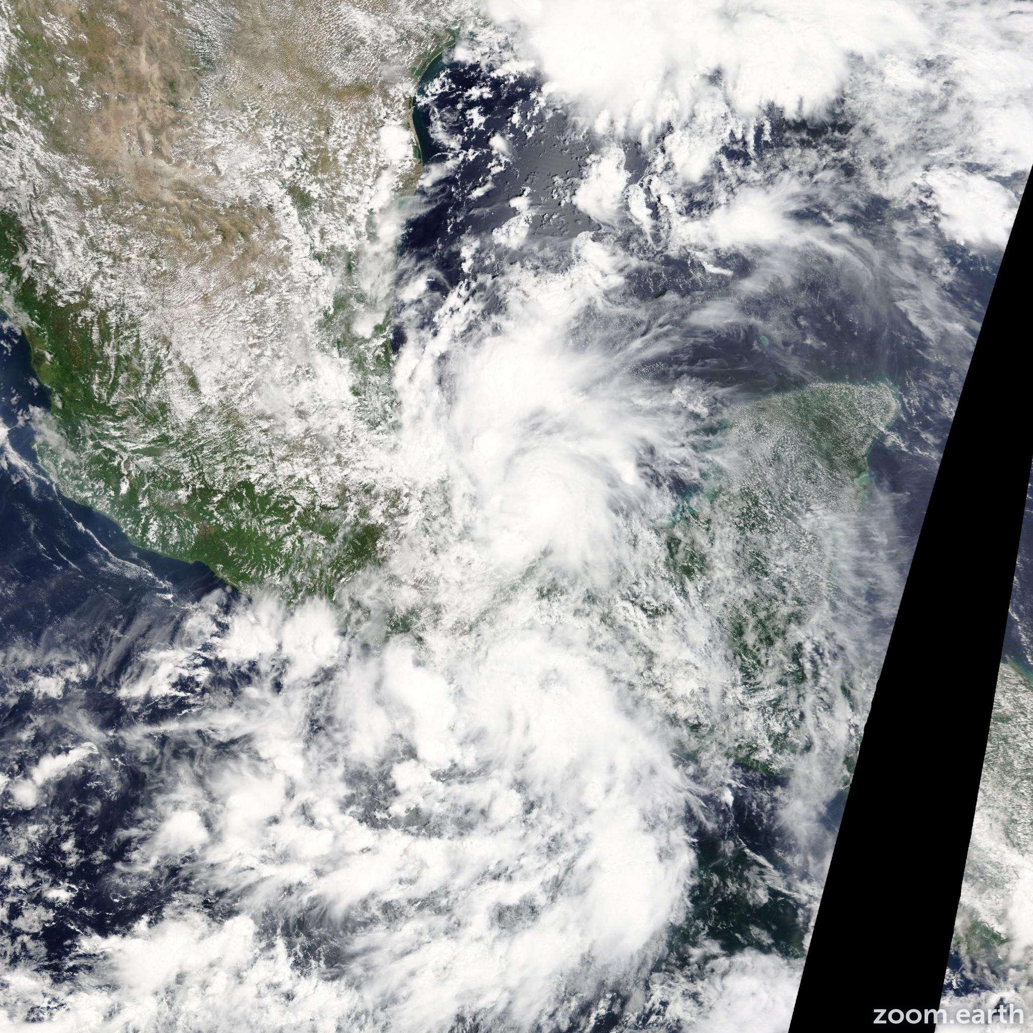Satellite image of Storm Fernand 2013