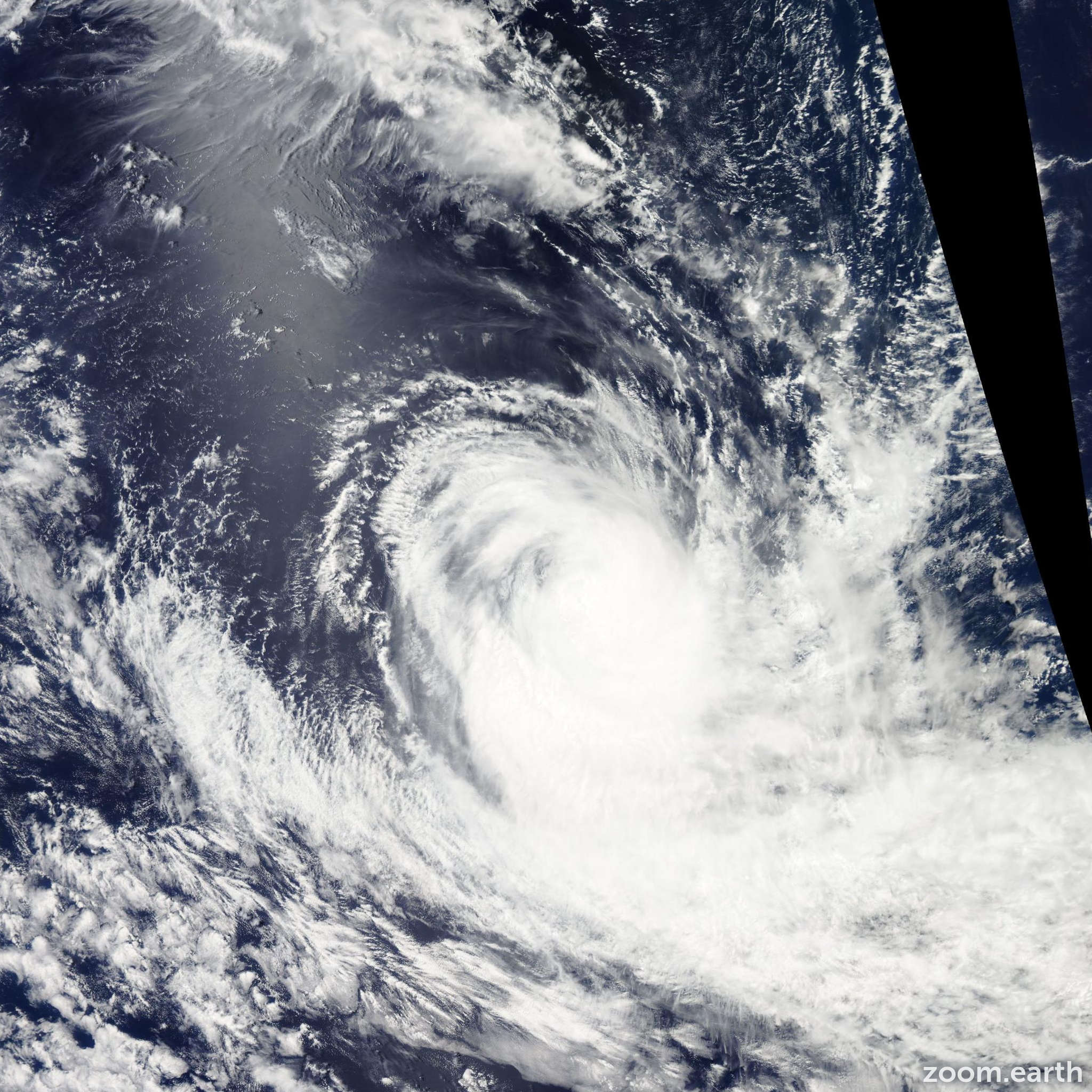 Satellite image of Cyclone Gino 2013