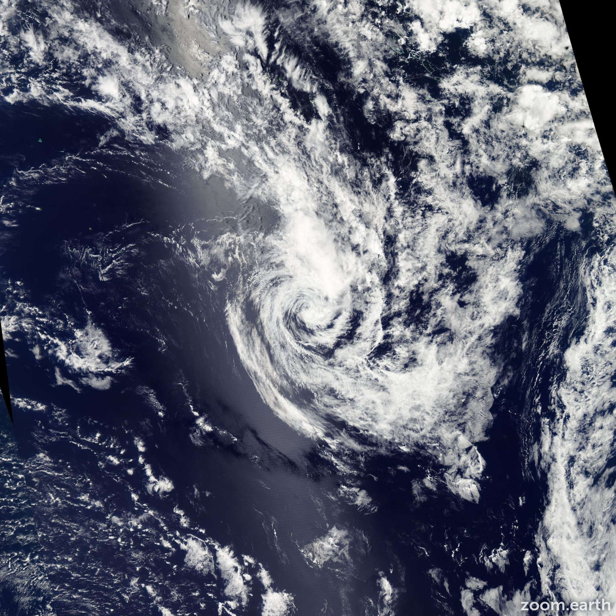 Satellite image of Cyclone Haley 2013