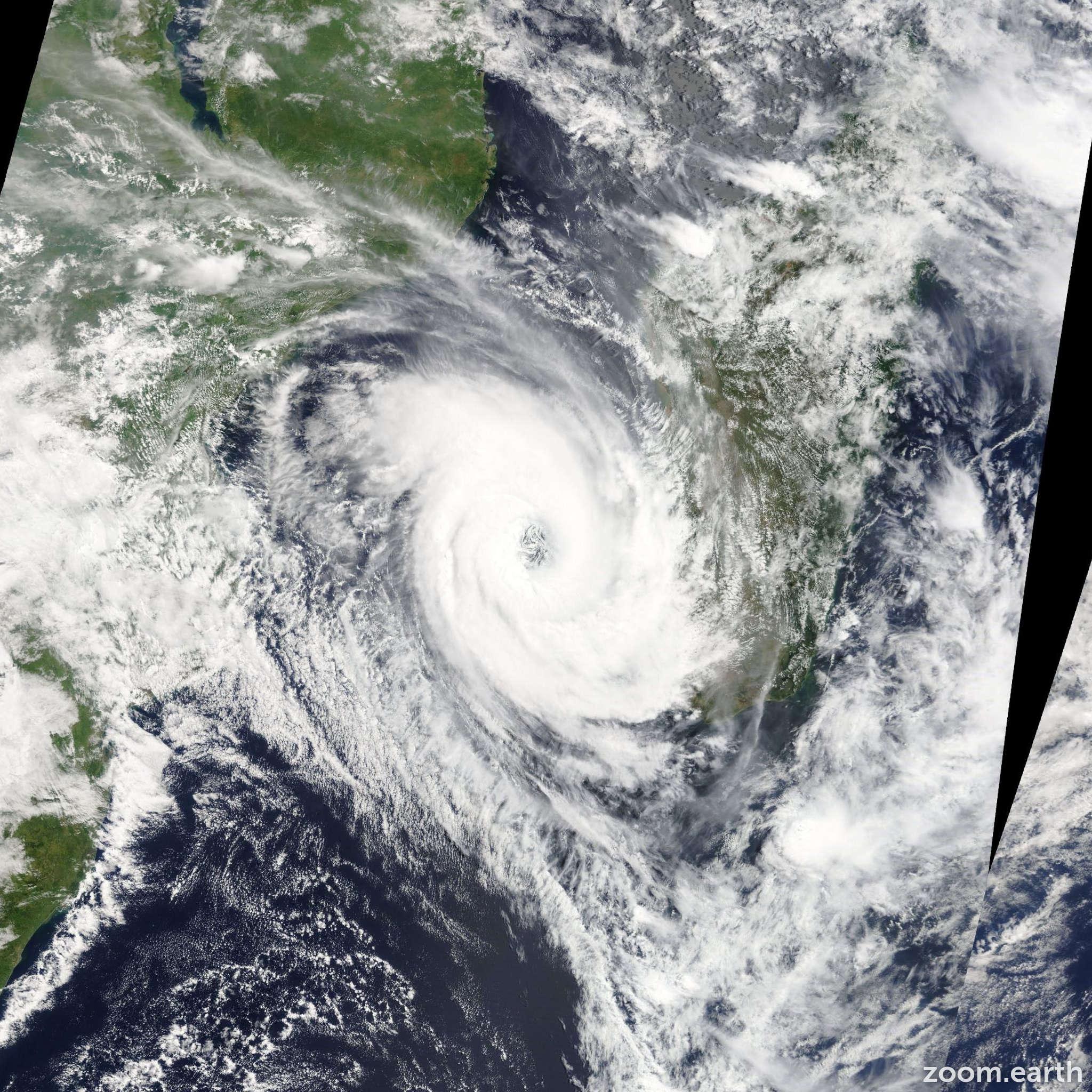Satellite image of Cyclone Haruna 2013