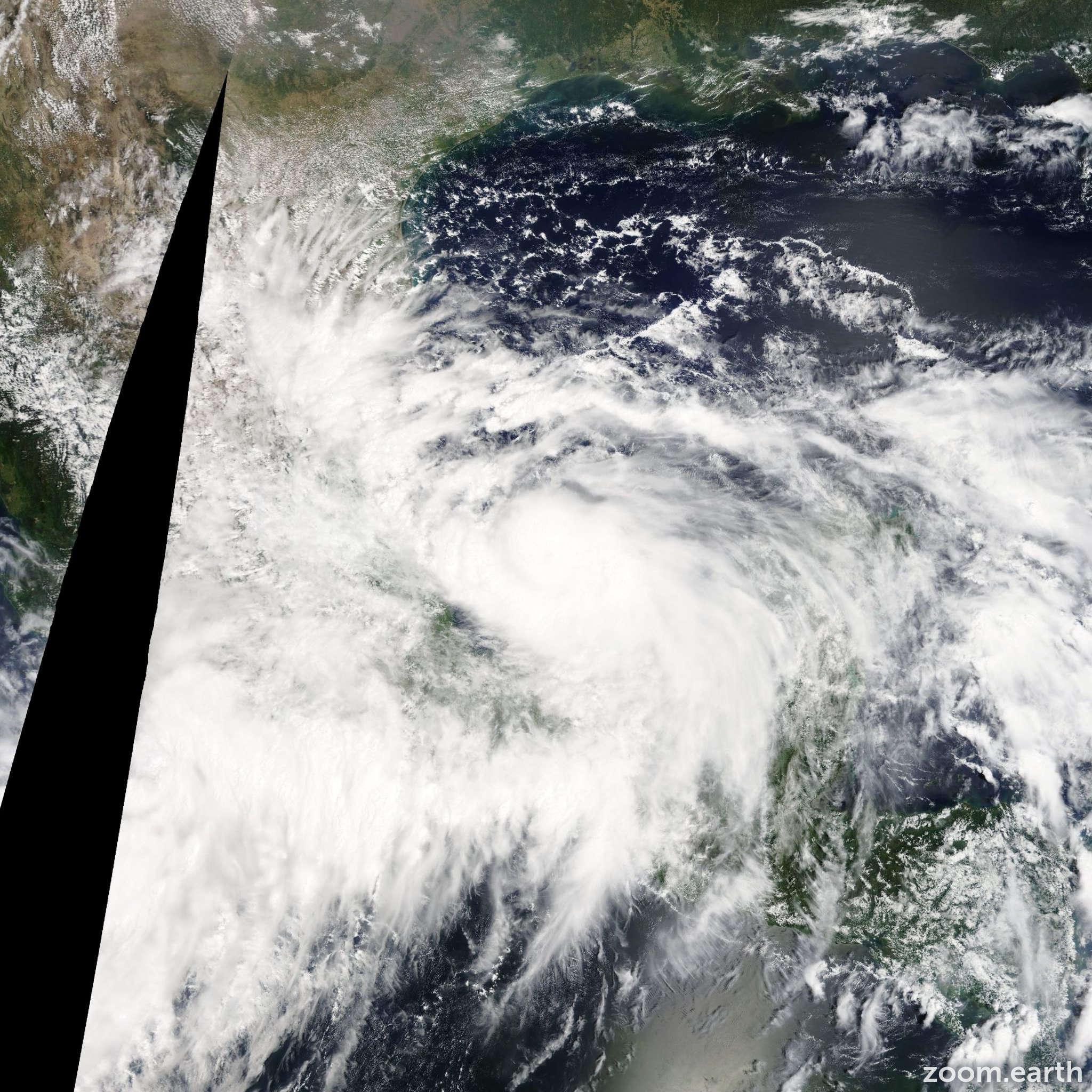Satellite image of Hurricane Ingrid 2013