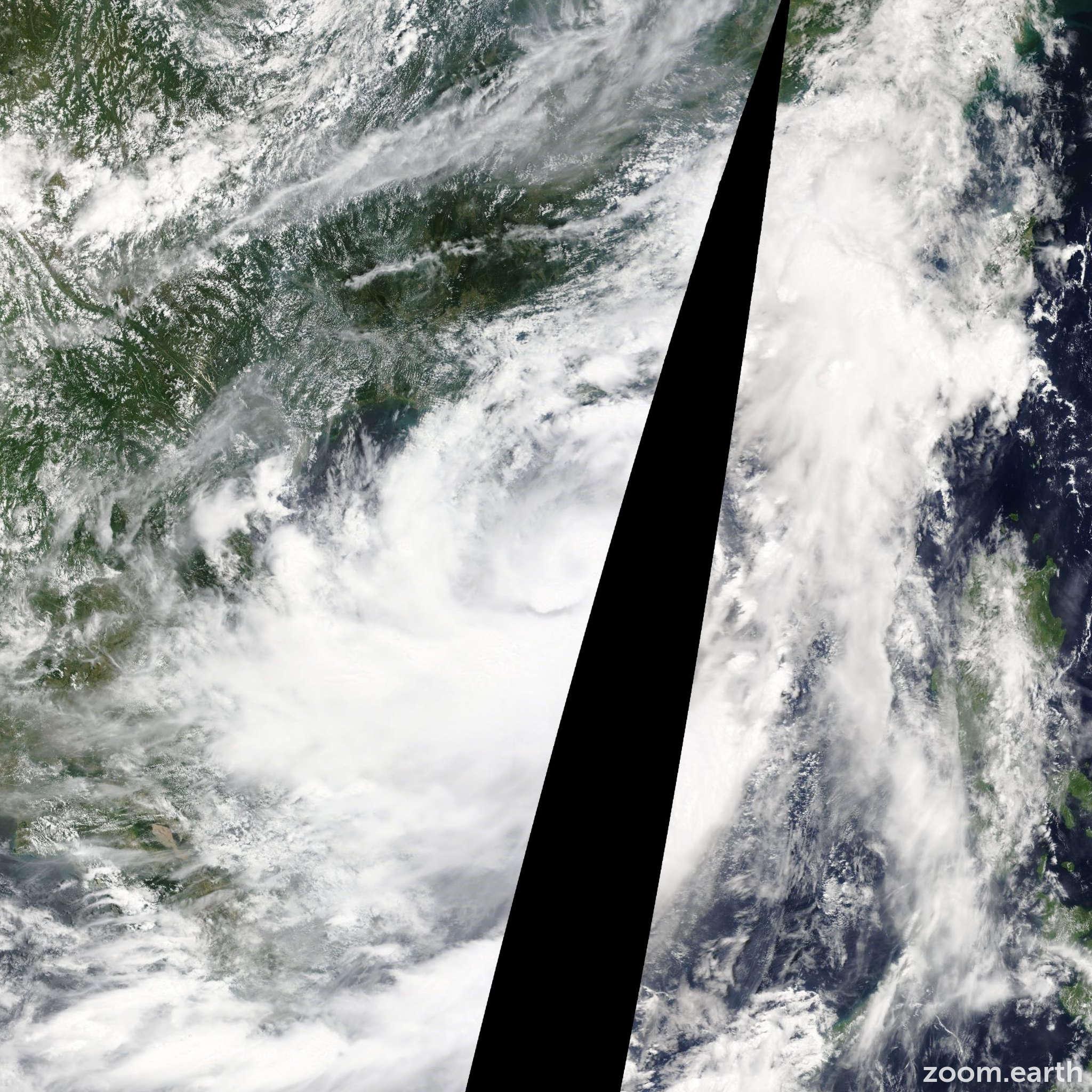 Satellite image of Storm Jebi 2013