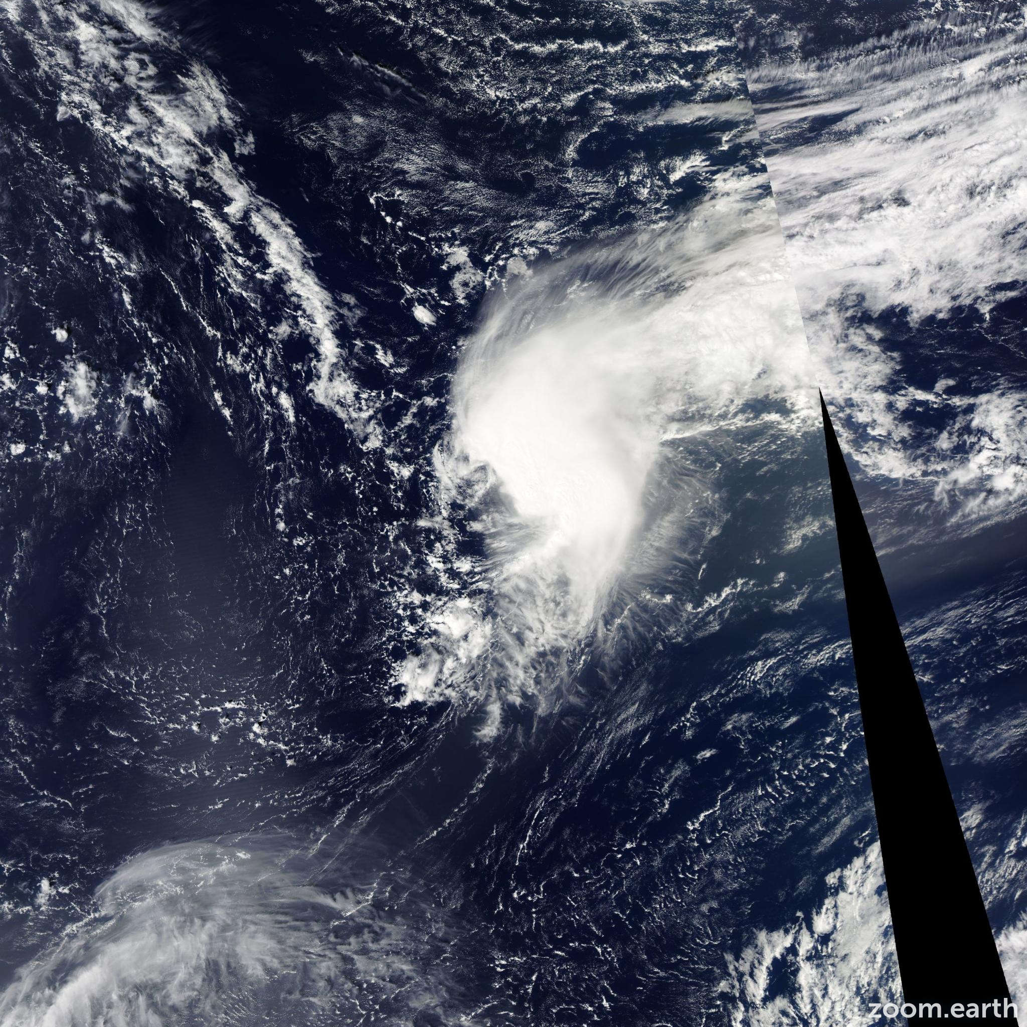 Satellite image of Storm Jerry 2013