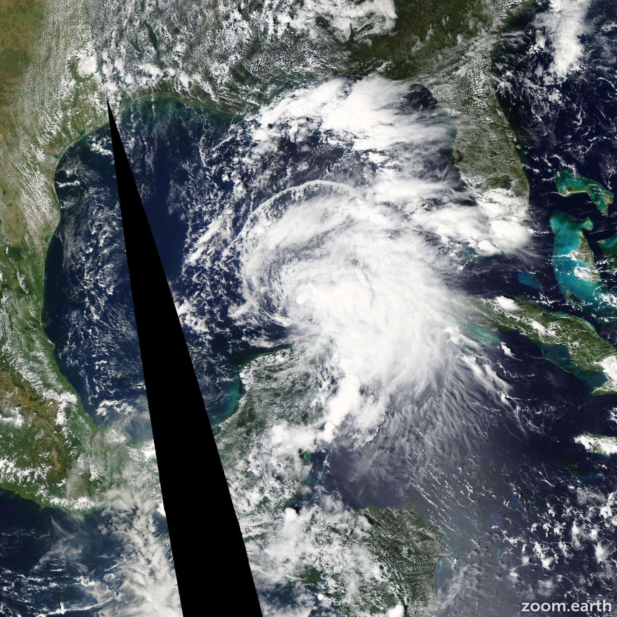 Satellite image of Storm Karen 2013