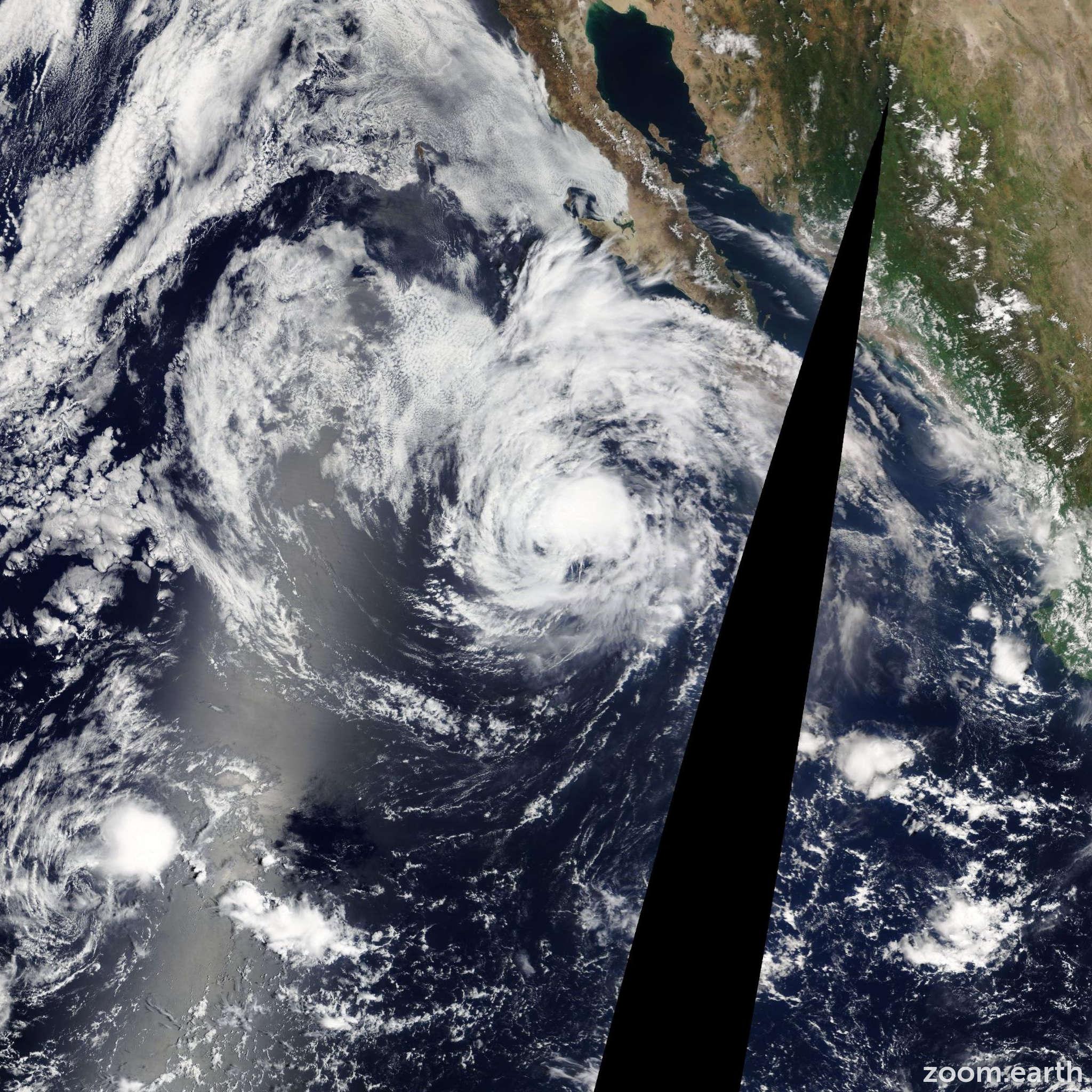 Satellite image of Hurricane Kiko 2013