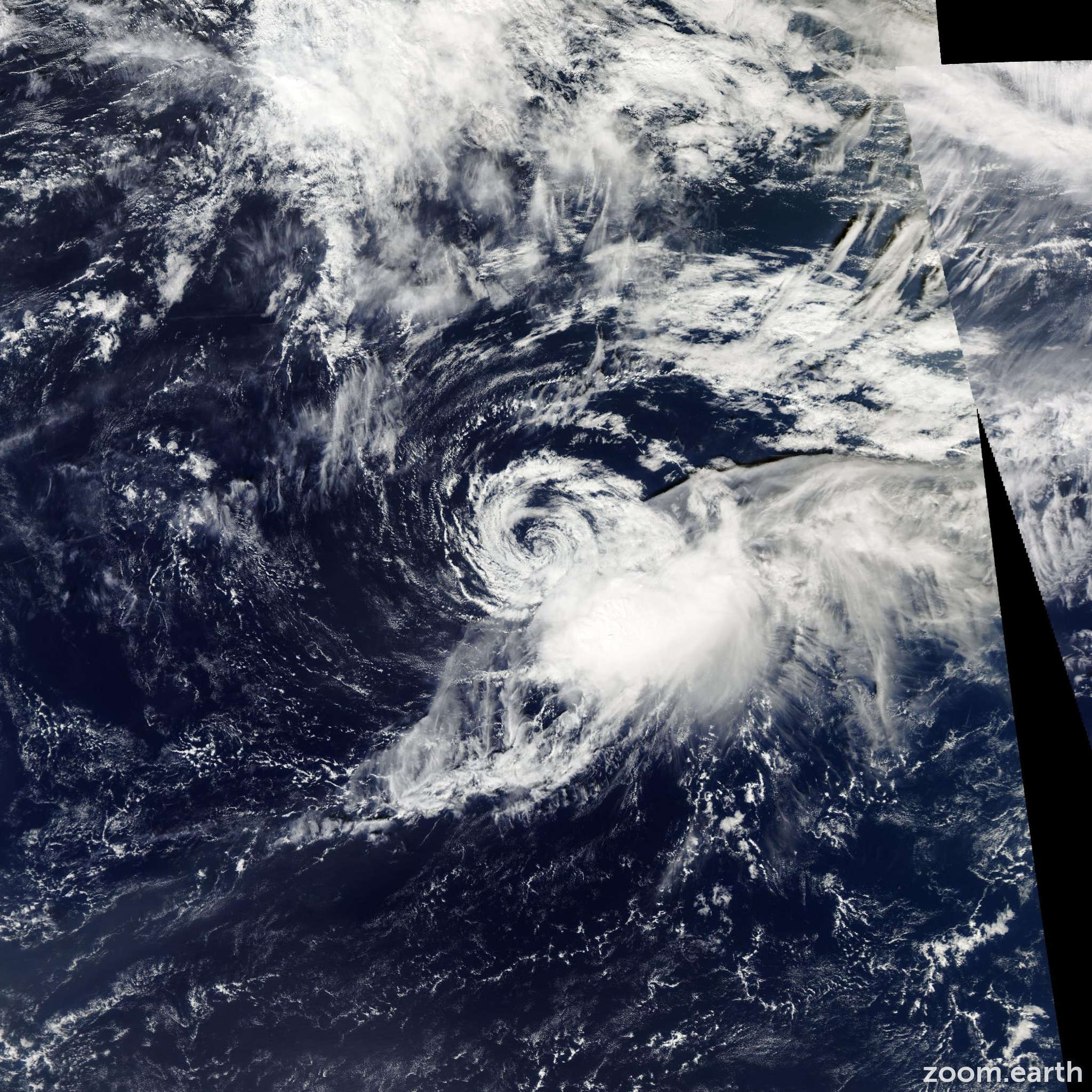 Satellite image of Storm Lorenzo 2013