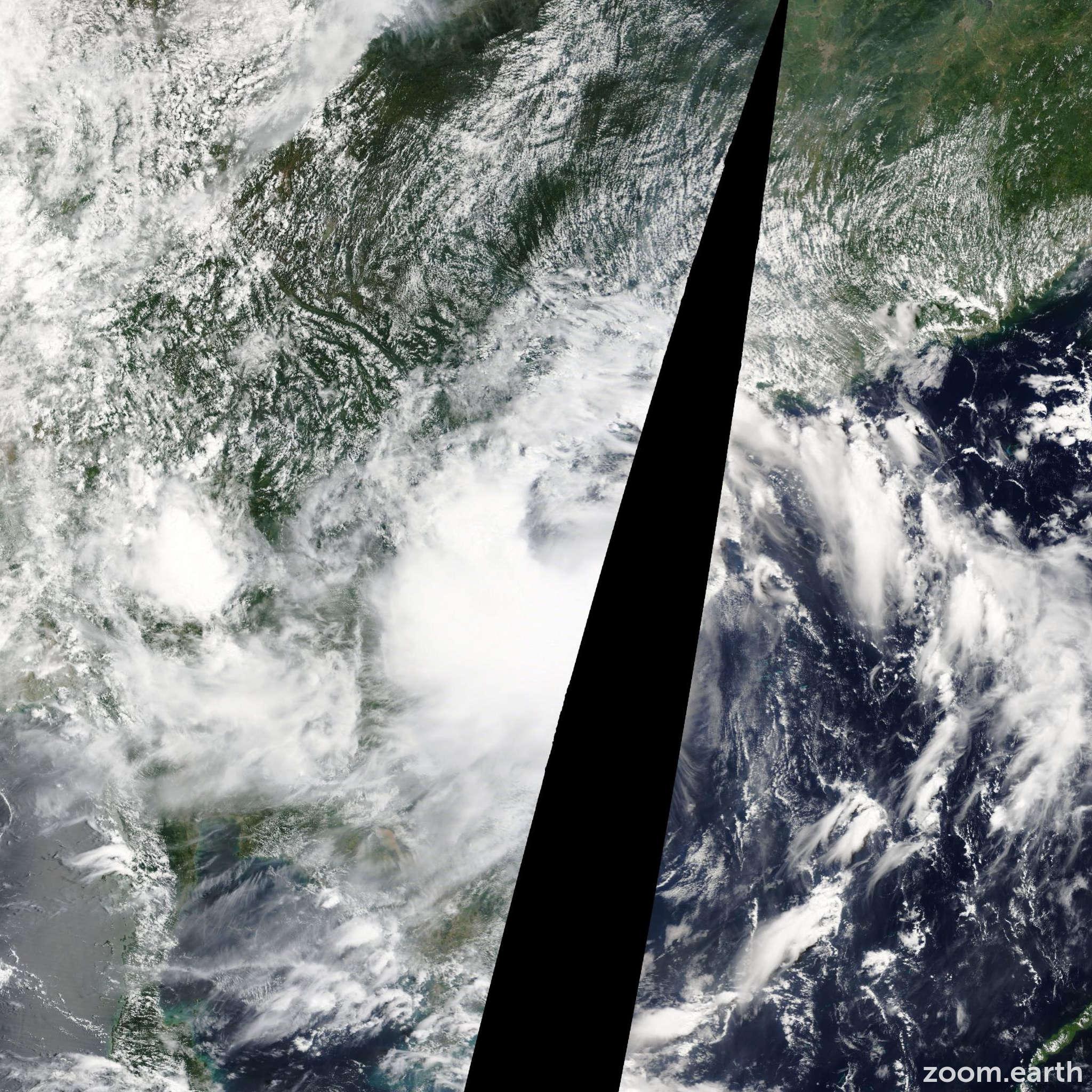 Satellite image of Storm Mangkhut 2013