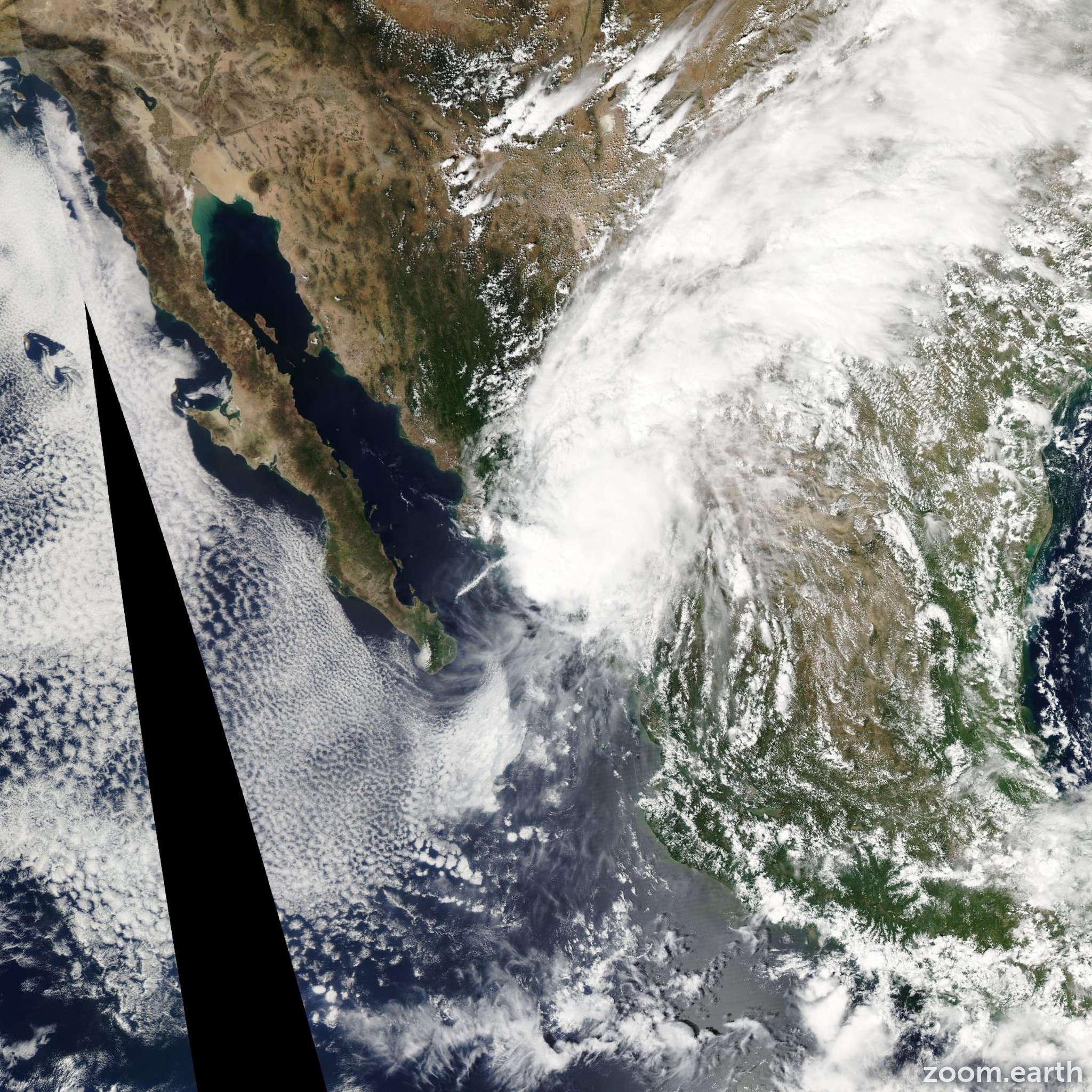 Satellite image of Hurricane Manuel 2013