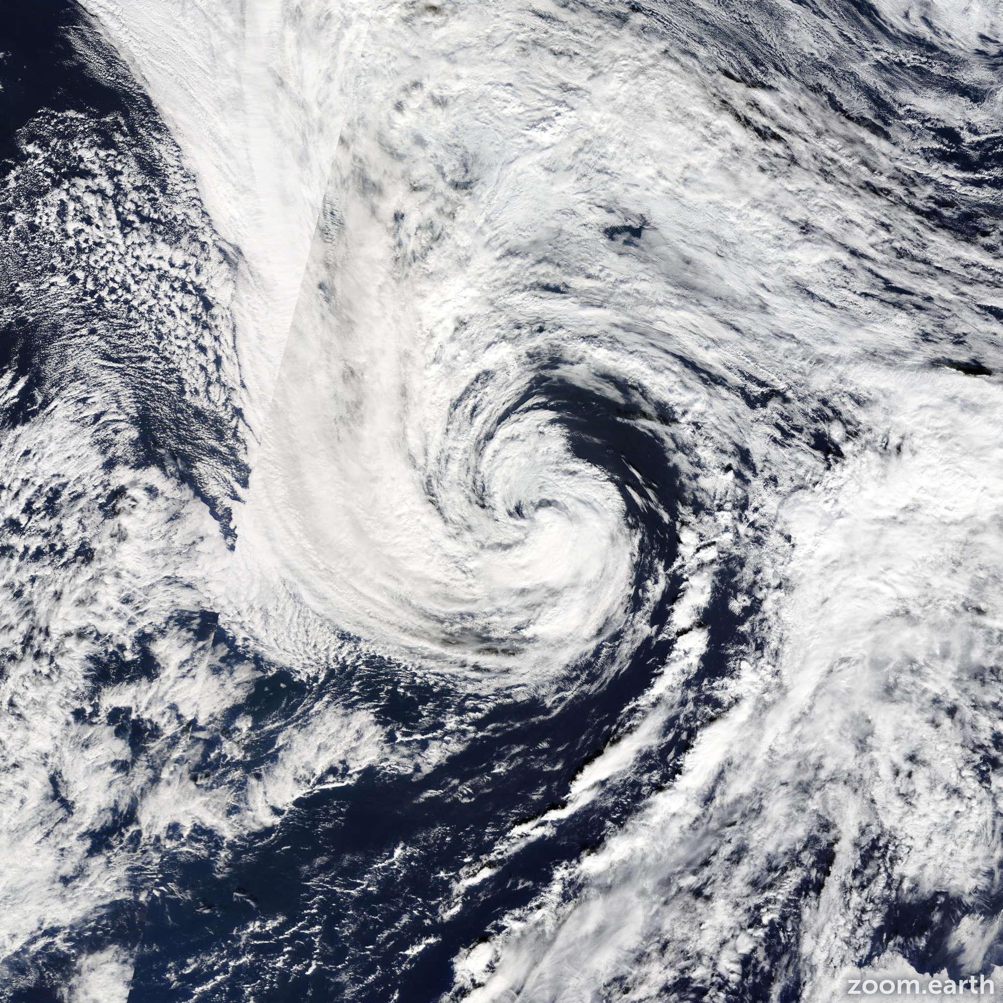 Satellite image of Storm Melissa 2013
