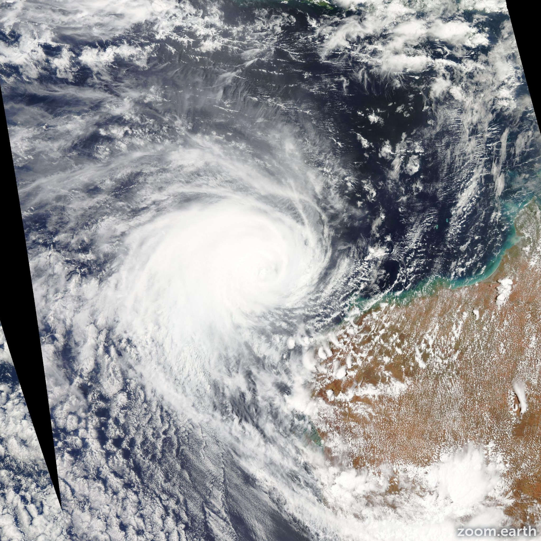 Satellite image of Cyclone Narelle 2013